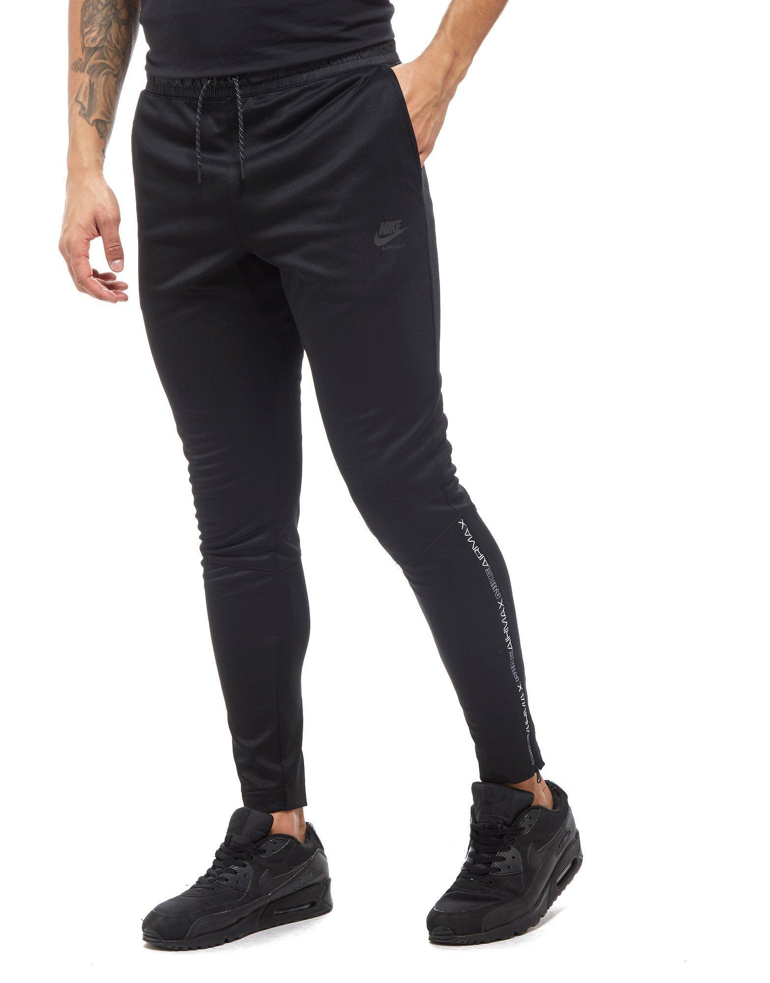 nike air max poly track pants black