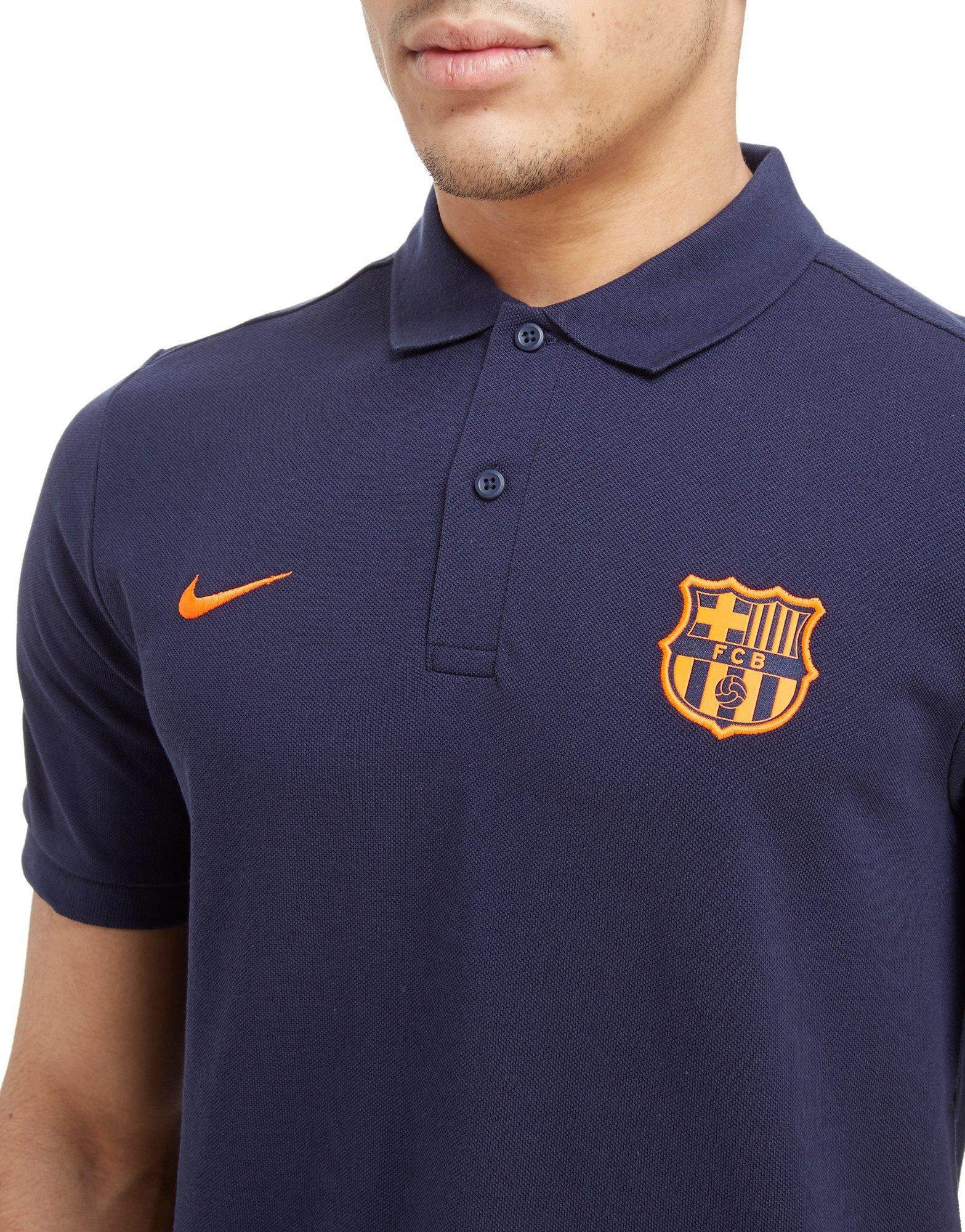 1166b62a Nike Fc Barcelona Polo Shirt in Blue for Men - Lyst
