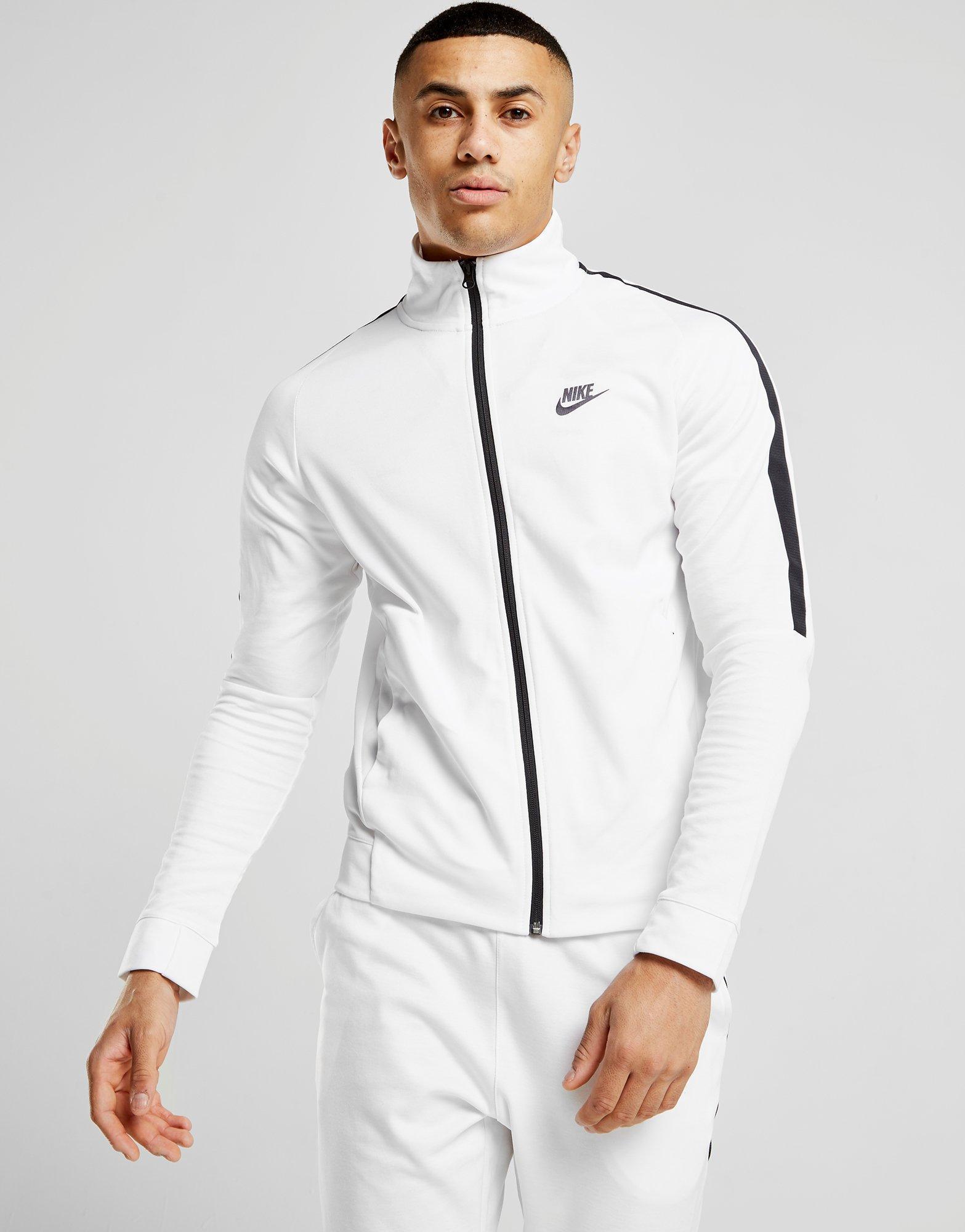 71cecc3e Nike Tribute Track Top in White for Men - Lyst