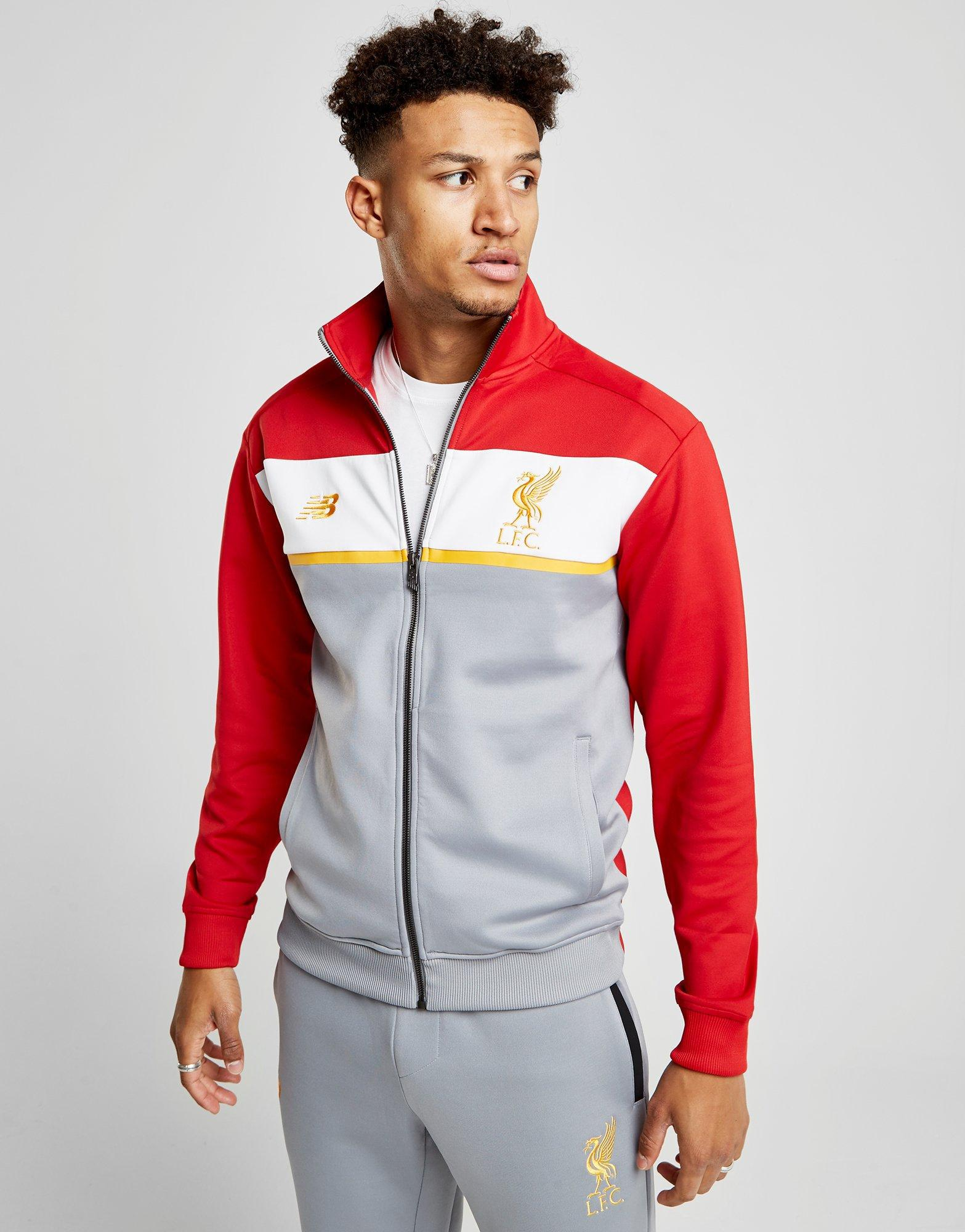 0a2f9307db45 New Balance 247 Liverpool Fc Track Top in Gray for Men - Lyst