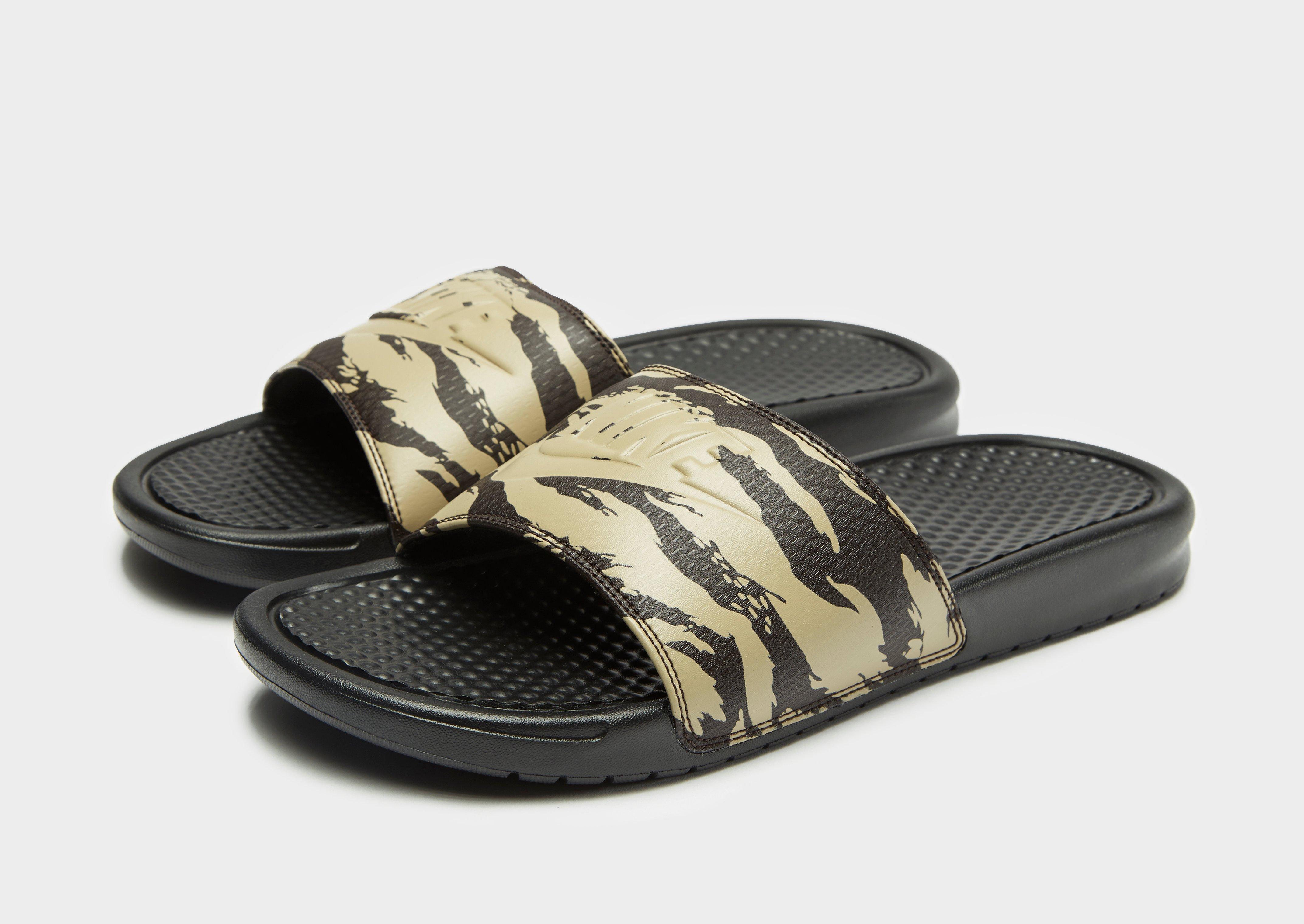 1bae3ea852bdb5 ... Reliable Nike Benassi Swoosh Slide Sandal Black Blue Camo 618312 400 Men  s Sandals Summer Slides  Nike Benassi Slides in Green for Men - Lyst ...