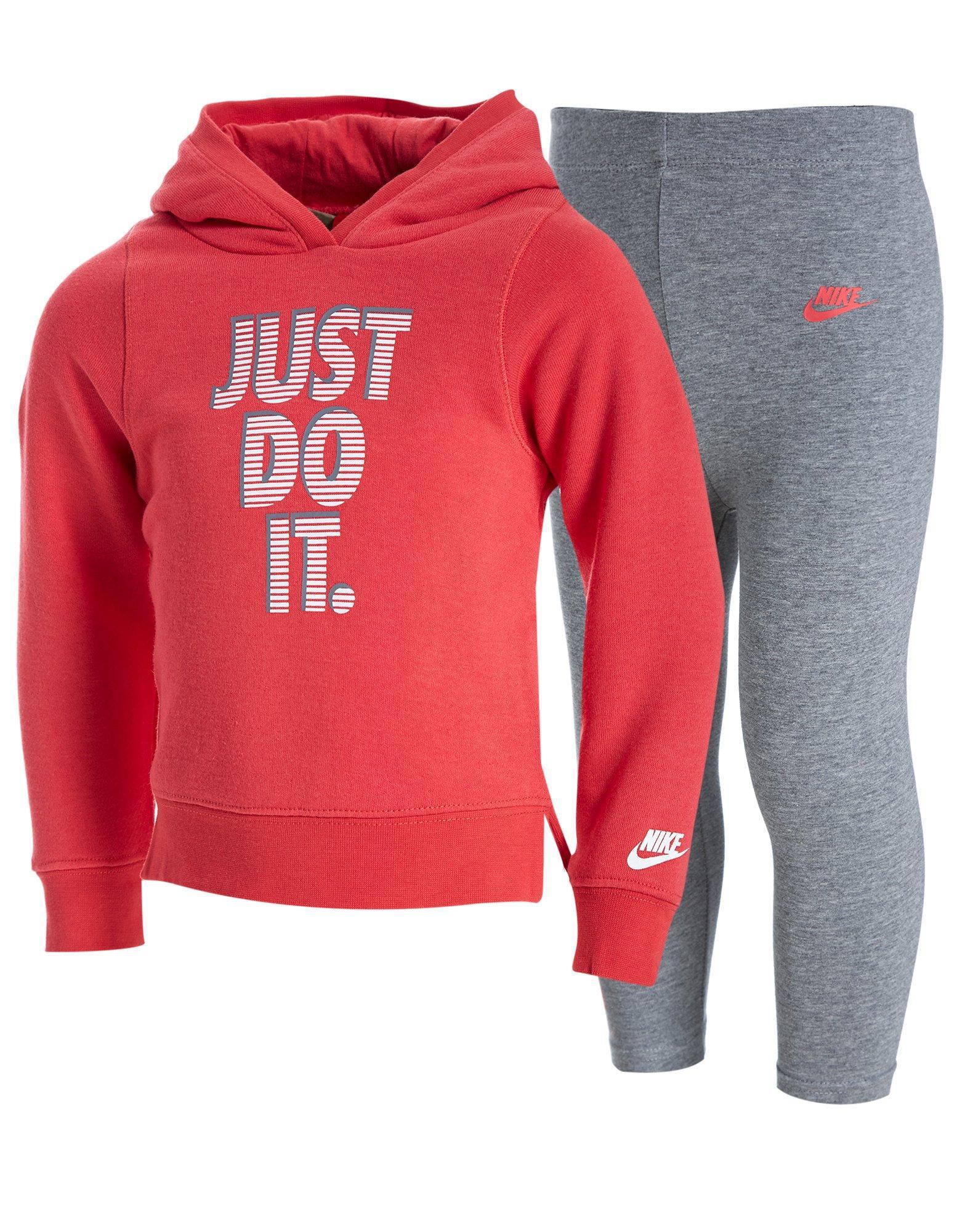 lyst nike girls just do it hoodie leggings set infant