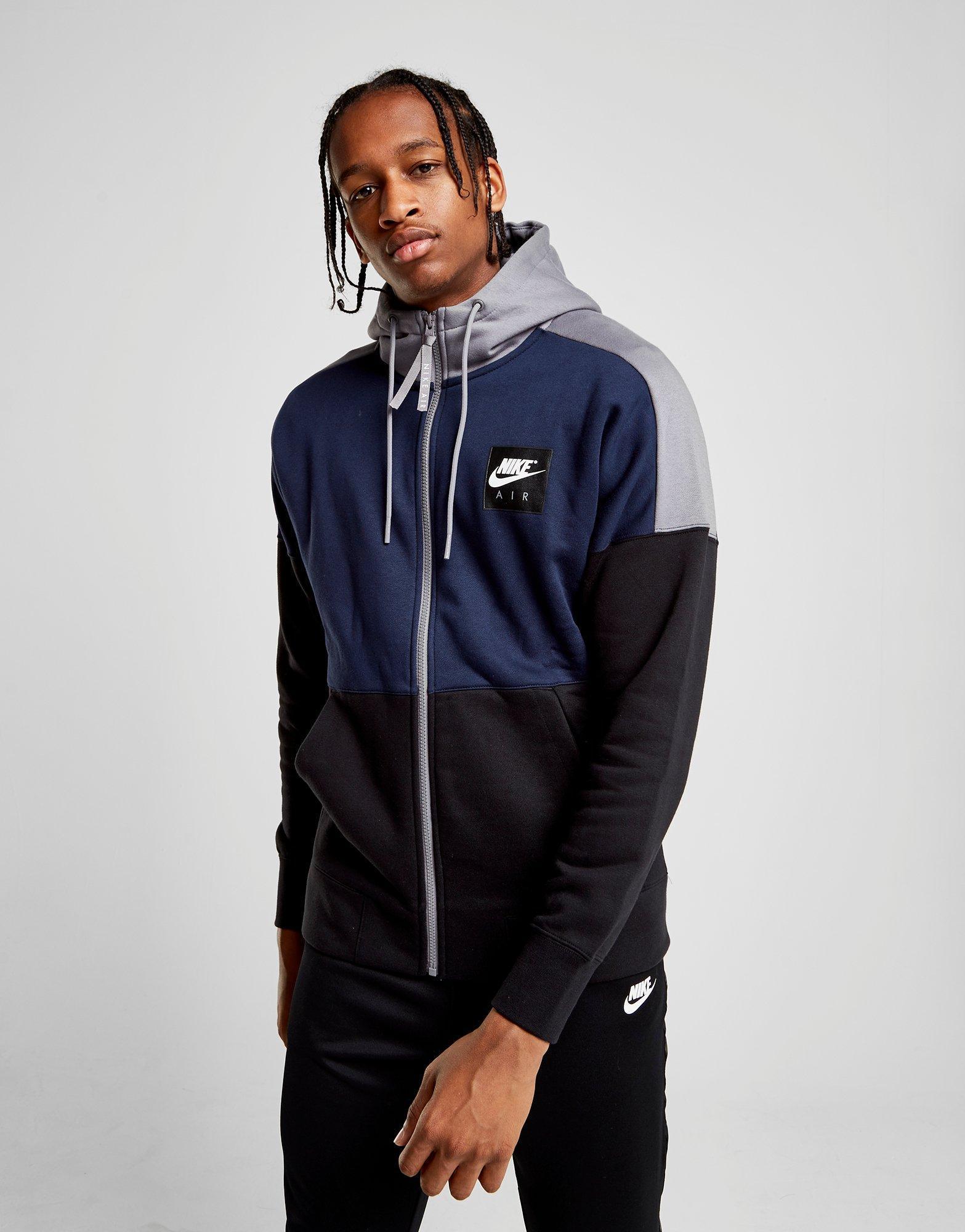 Lyst - Nike Air Full Zip Fleece Hoodie in Blue for Men a064bcd6cc