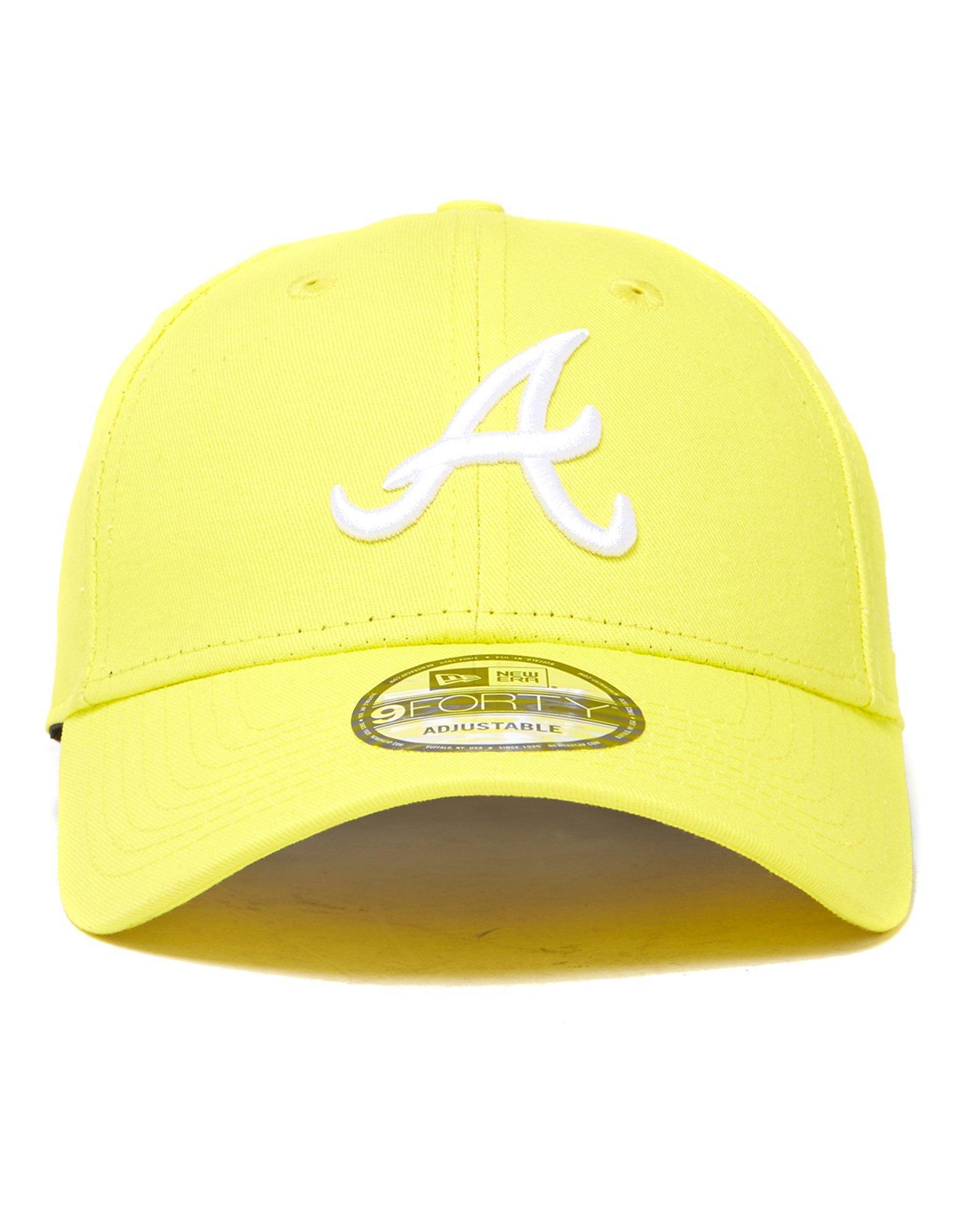 63d0ae2b6 ... closeout ktz mlb atlanta braves 9forty strapback cap in yellow for men  lyst f7544 b0904