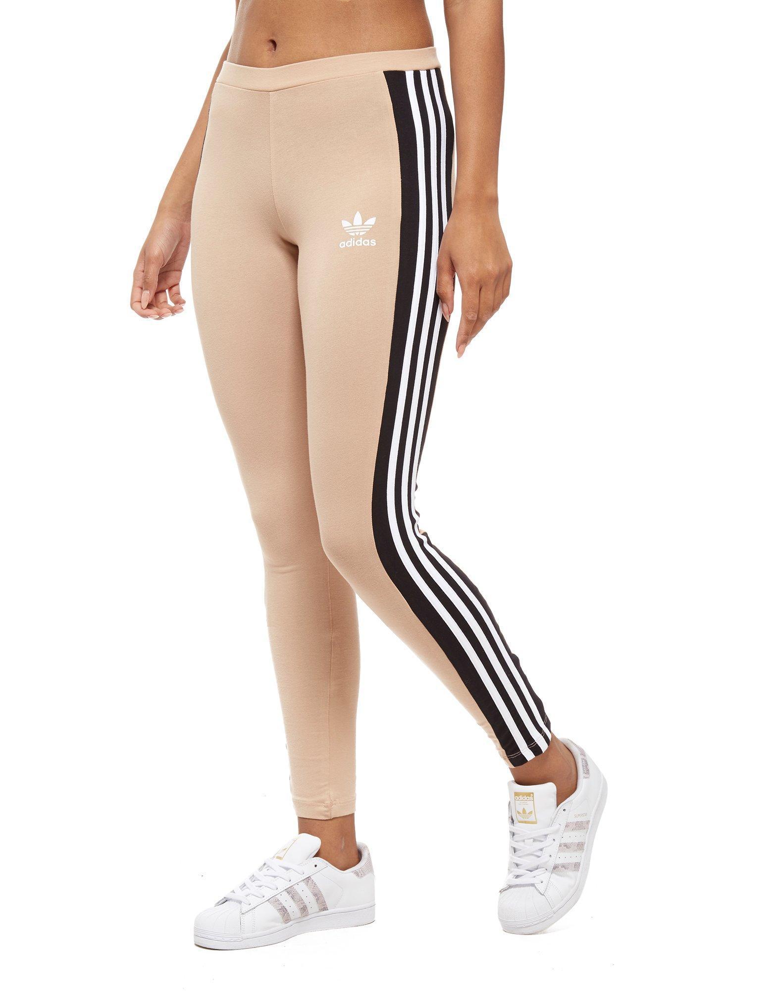 76b22f0c4 adidas Originals 3-stripes Panel Leggings in Black - Lyst
