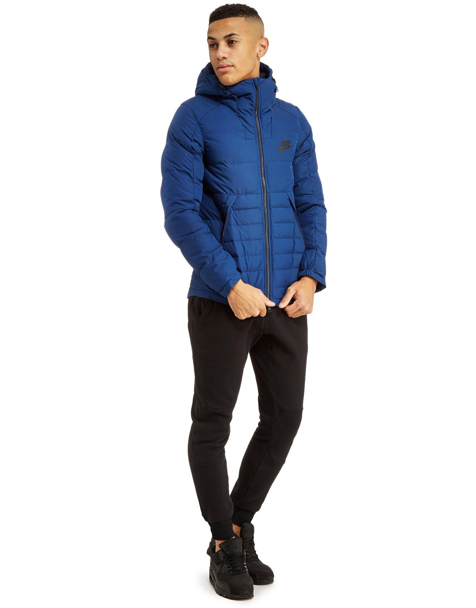 dc4a29c2019a Lyst - Nike Padded Down Jacket in Blue for Men