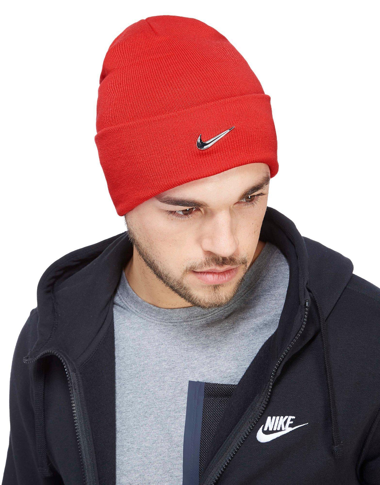 Lyst - Nike Swoosh Beanie Hat in Red for Men 44efef8d30e