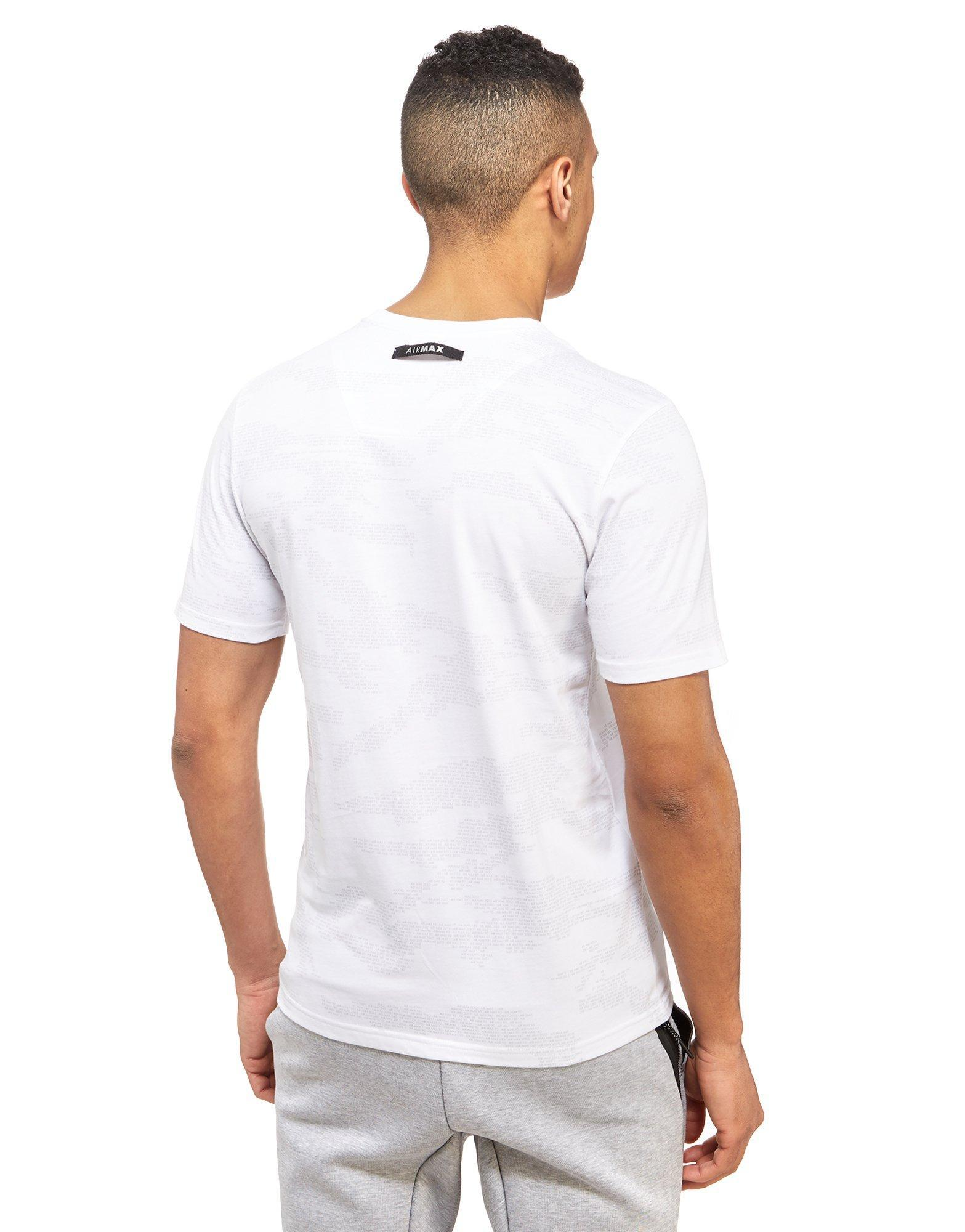 4884b7c82b6 Lyst - Nike Air Max All Over Print T-shirt in White for Men
