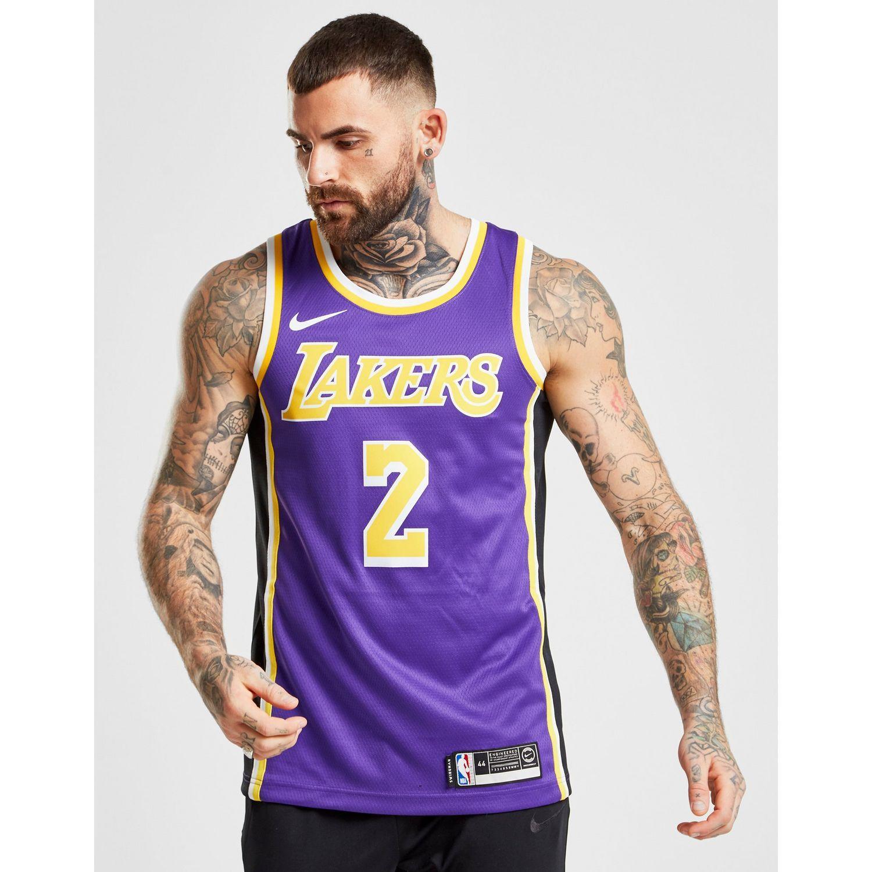 6c878ce36af Lyst - Nike Nba Los Angeles Lakers Swingman Jersey in Purple for Men