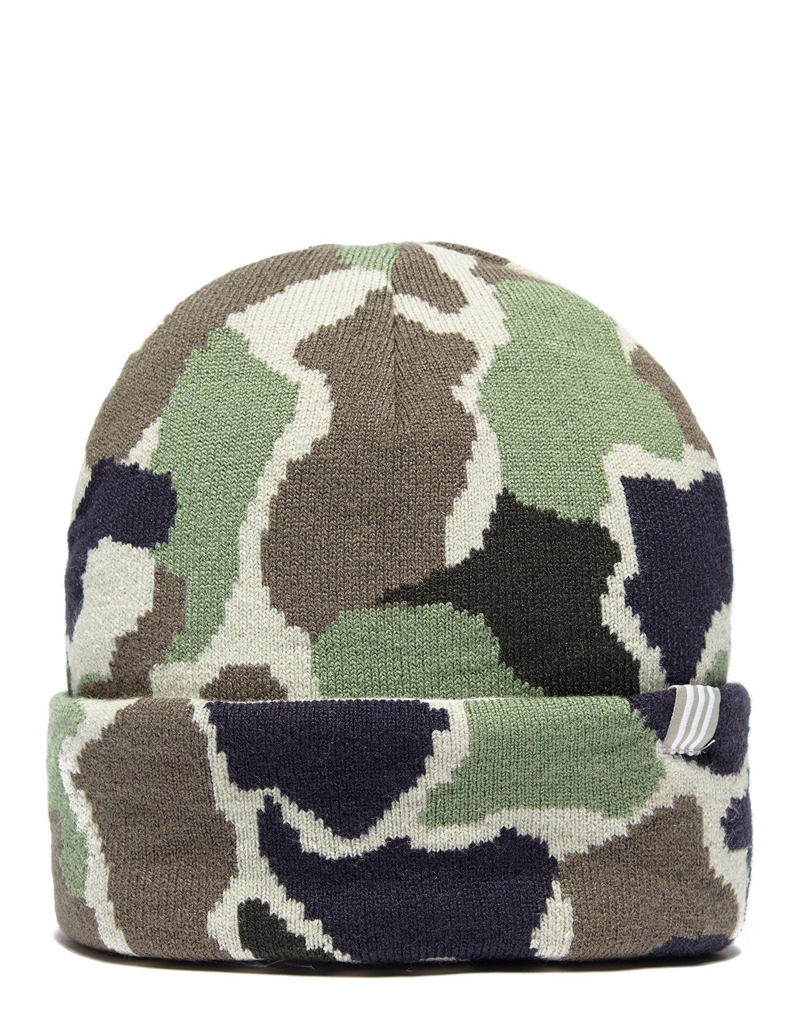 775c6761cd2e55 Lyst - adidas Originals Camo Beanie Hat for Men