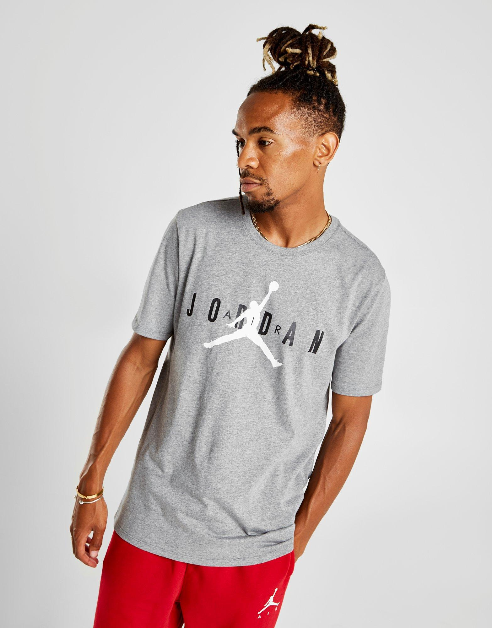 5334139f7 Nike Jumpman Logo T-shirt in Gray for Men - Lyst
