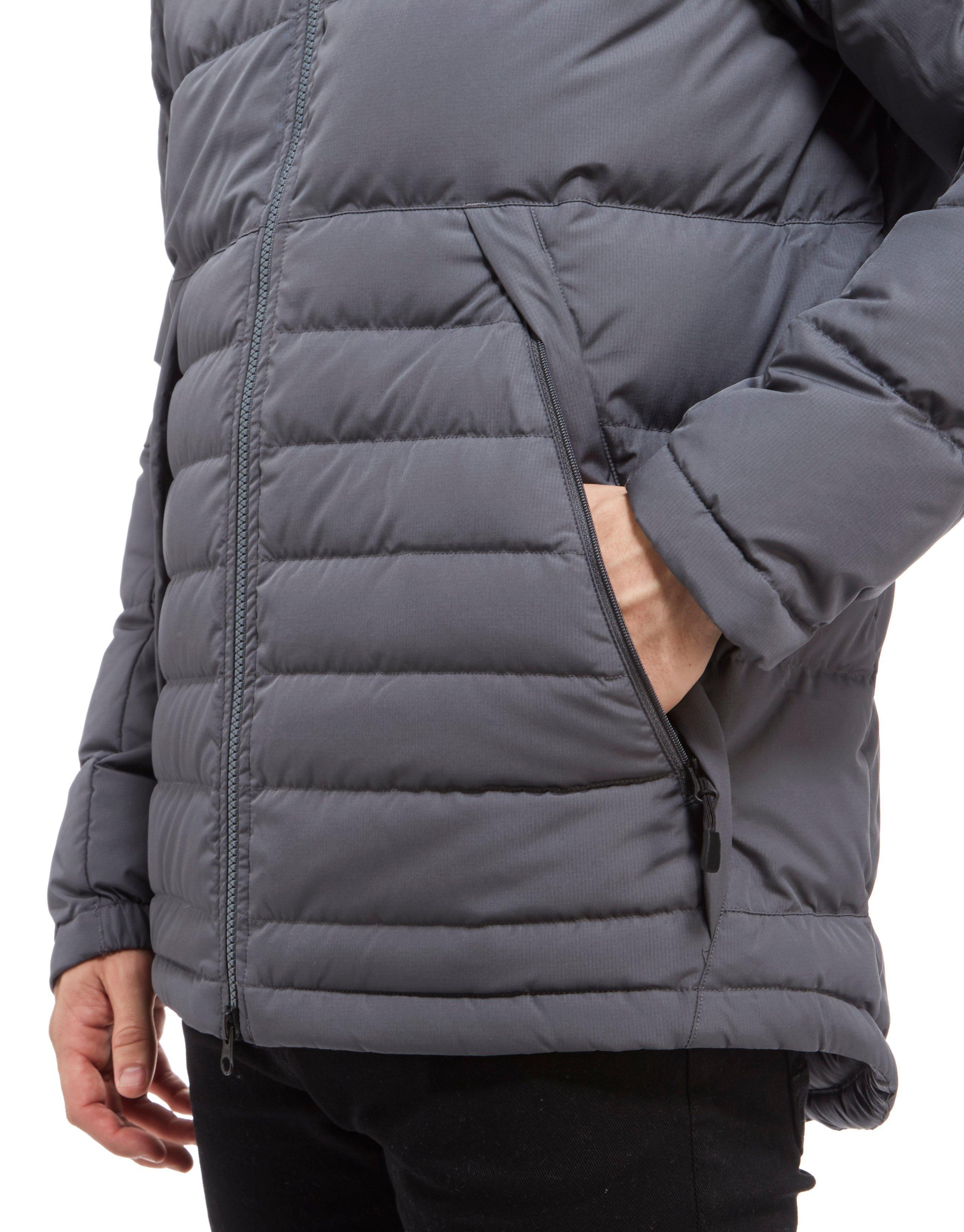 4f1605cdd3ef Lyst - Nike Padded Down Hooded Jacket in Gray for Men