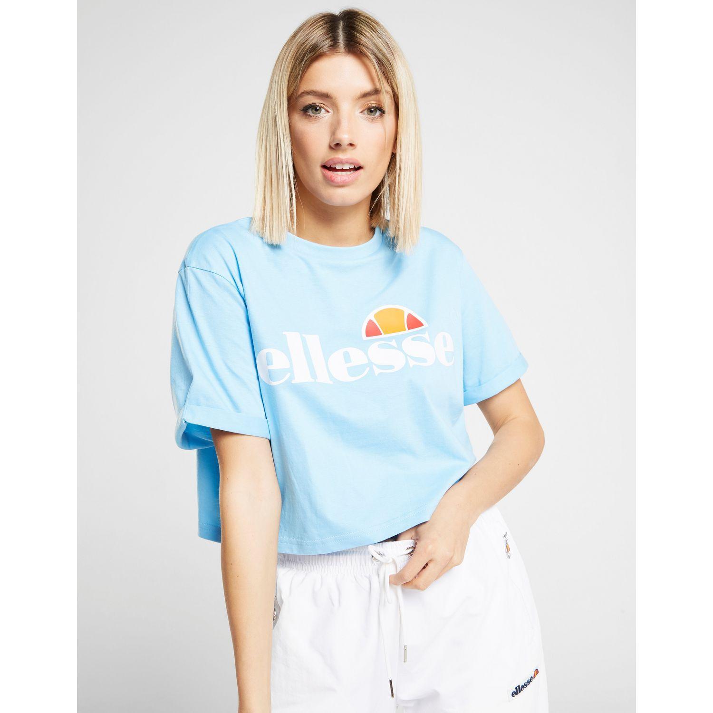 115b5b3c Ellesse Core Logo Crop T-shirt in Blue - Lyst