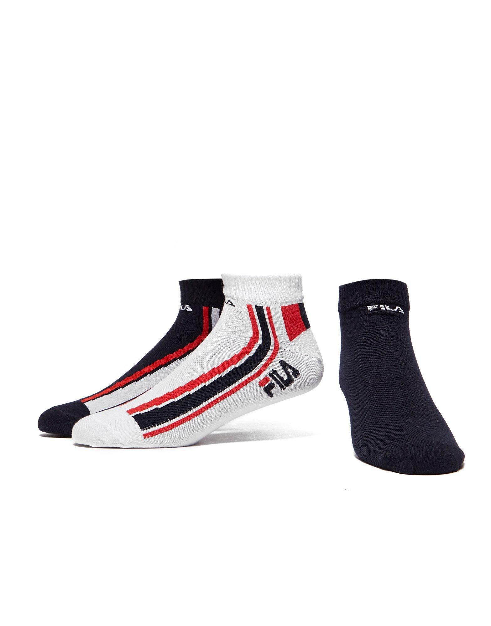d8df02273b800 Fila 3 Pack Quarter Sport Socks in Blue for Men - Lyst