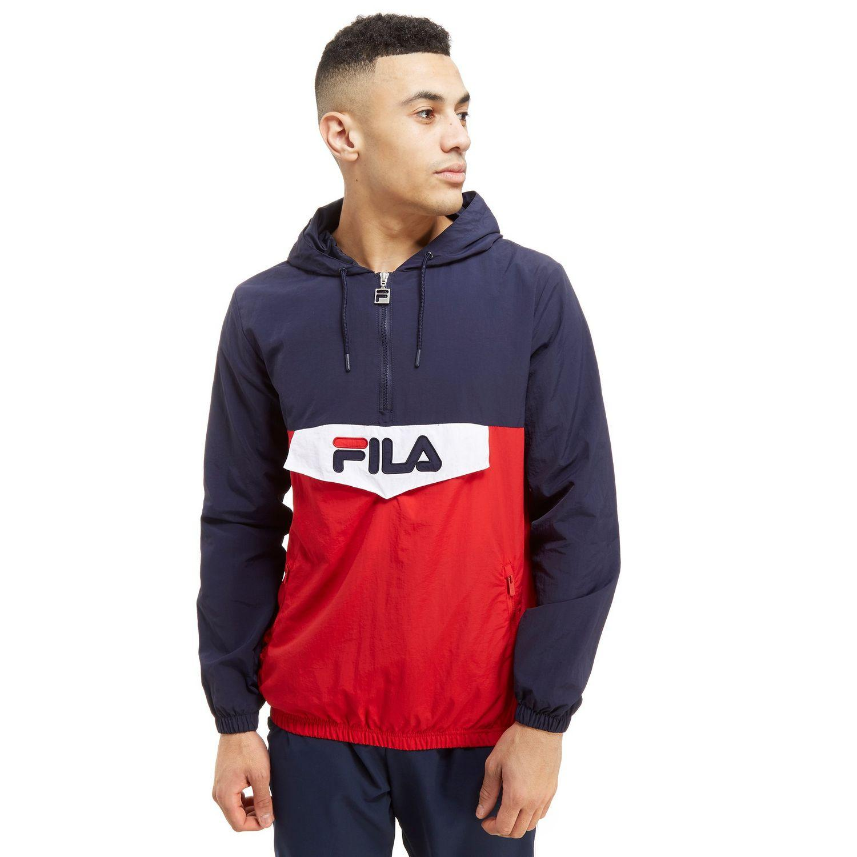 7da60185cb8d Fila Anderson 1 4 Zip Jacket in Blue for Men - Lyst
