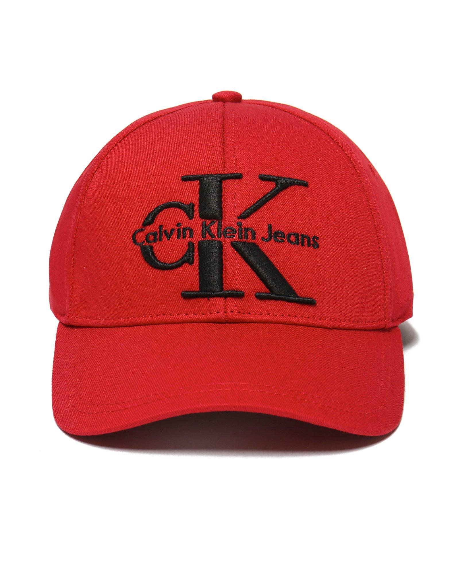 62a73925890 CALVIN KLEIN 205W39NYC Jeans Reissue Cap in Red for Men - Lyst