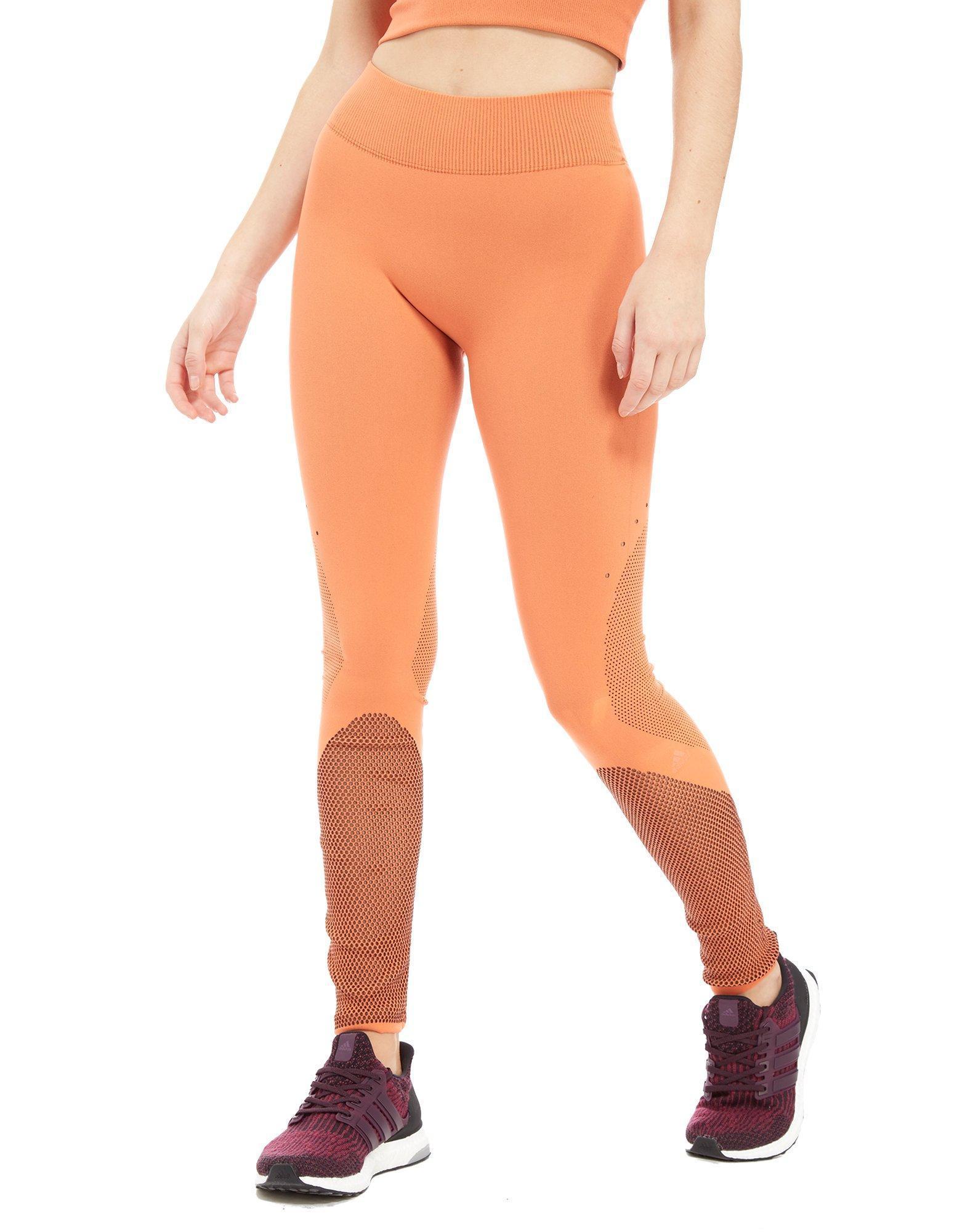 79eceb9c2e1dd adidas Warp Knit Tights in Orange - Lyst