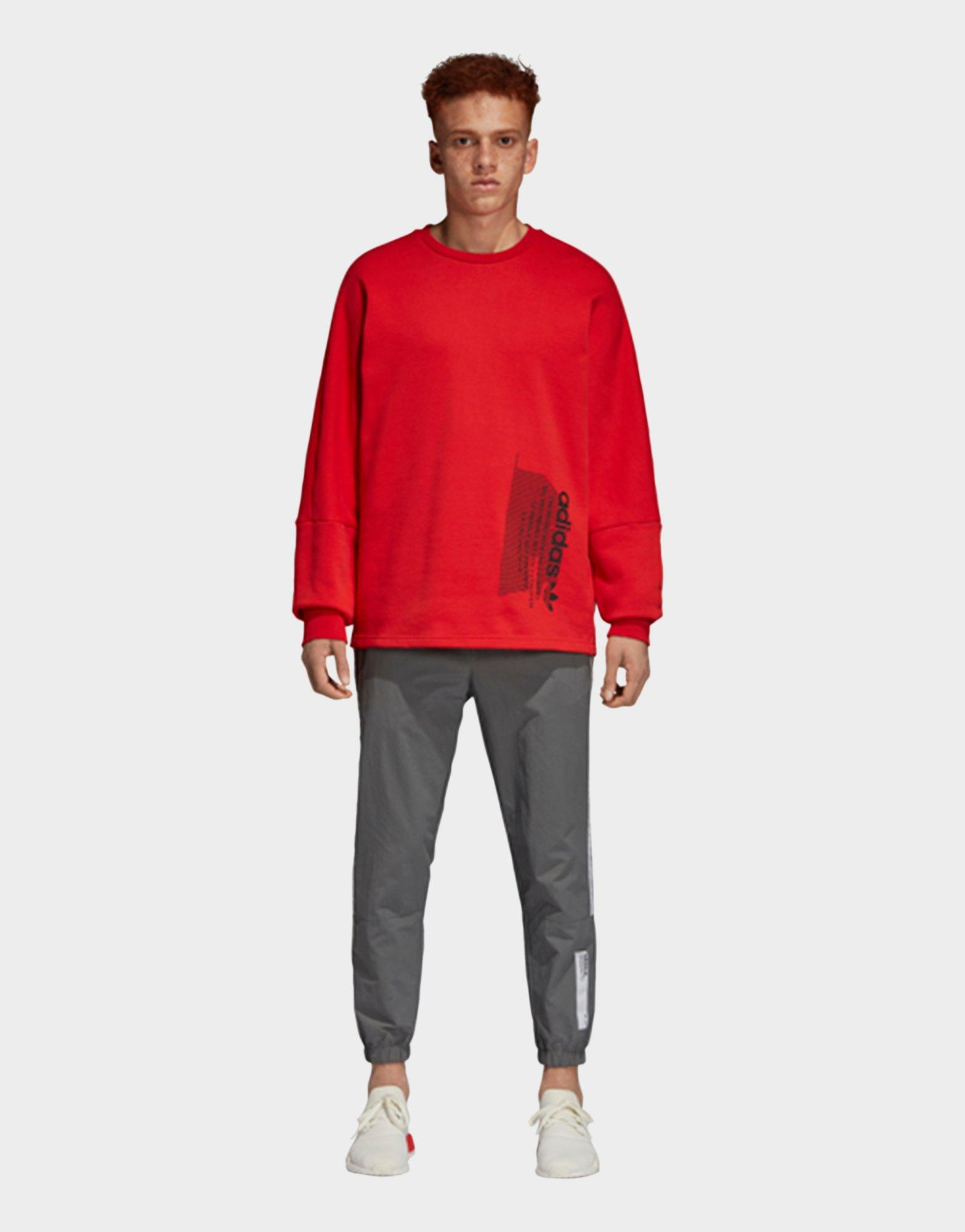 0f2e95db78116 Lyst - Adidas Nmd Sweatshirt in Red for Men