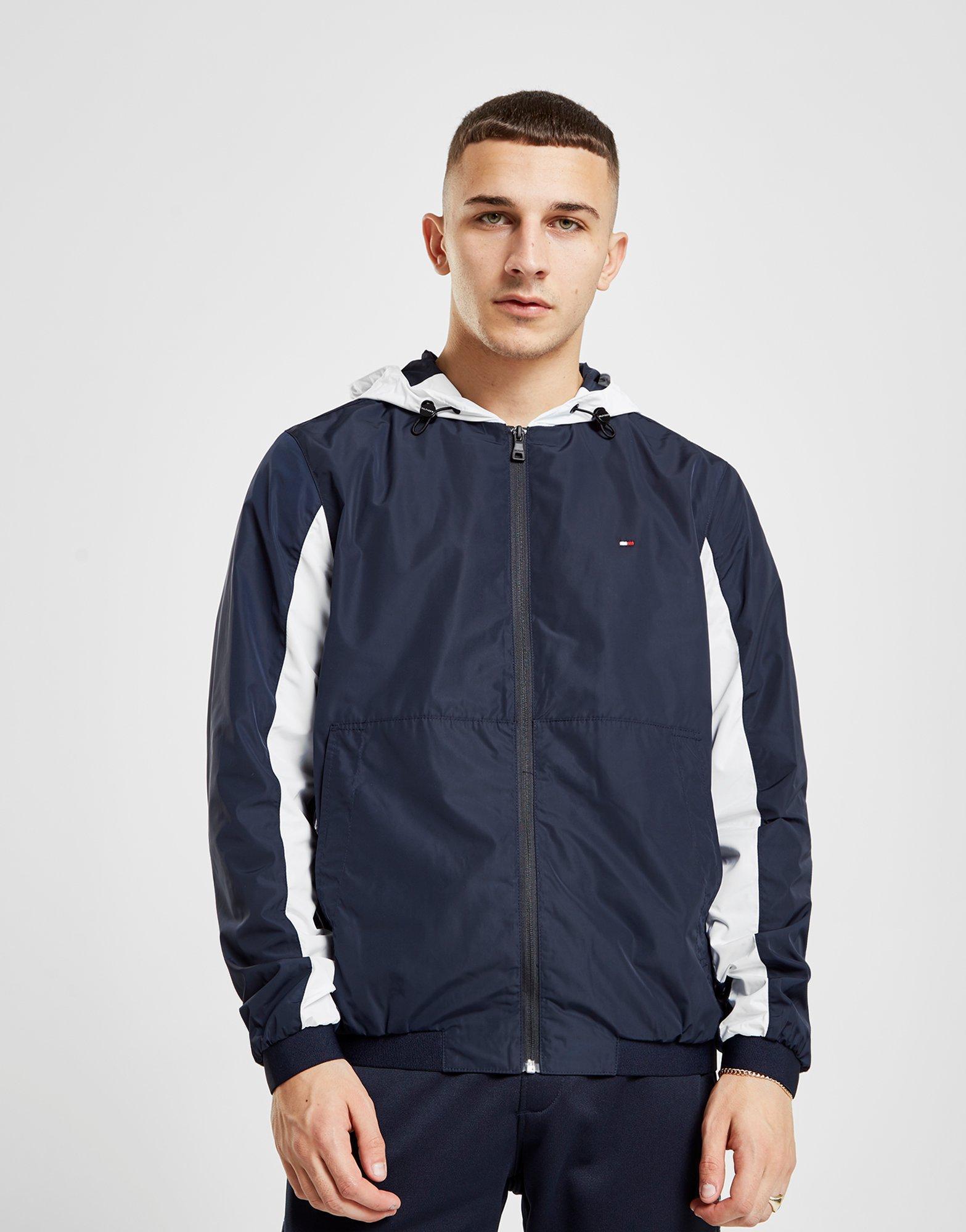2ec4e4b21 Tommy Hilfiger Colour Block Zip Through Jacket in Blue for Men - Lyst