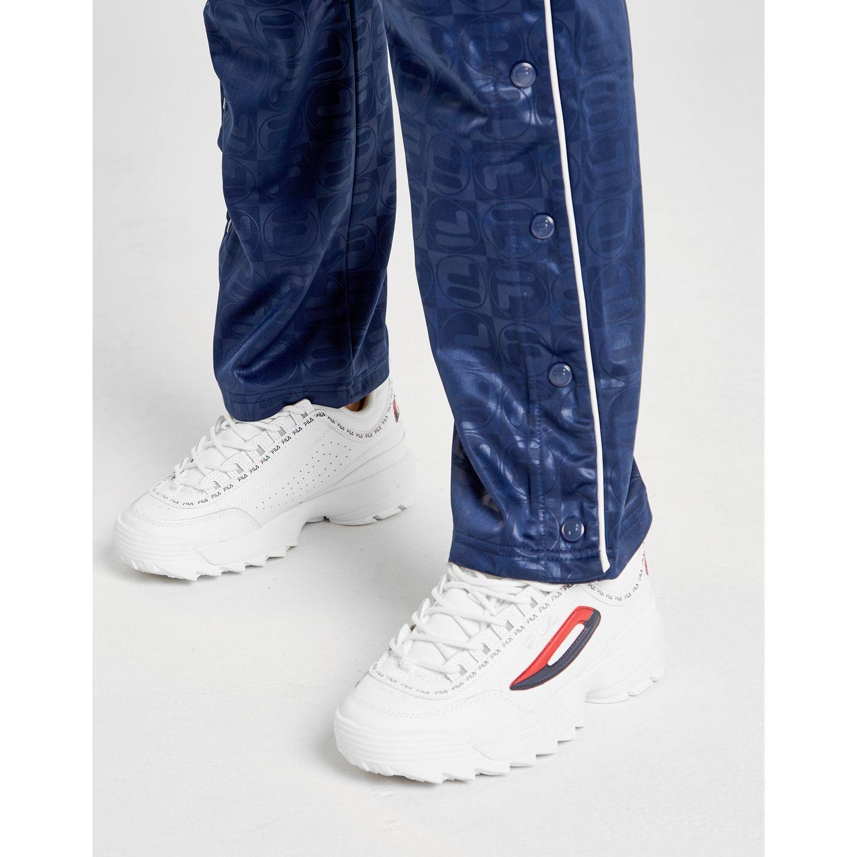 Fila - Blue All Over Print Popper Track Pants - Lyst. View fullscreen 91232fd0cf