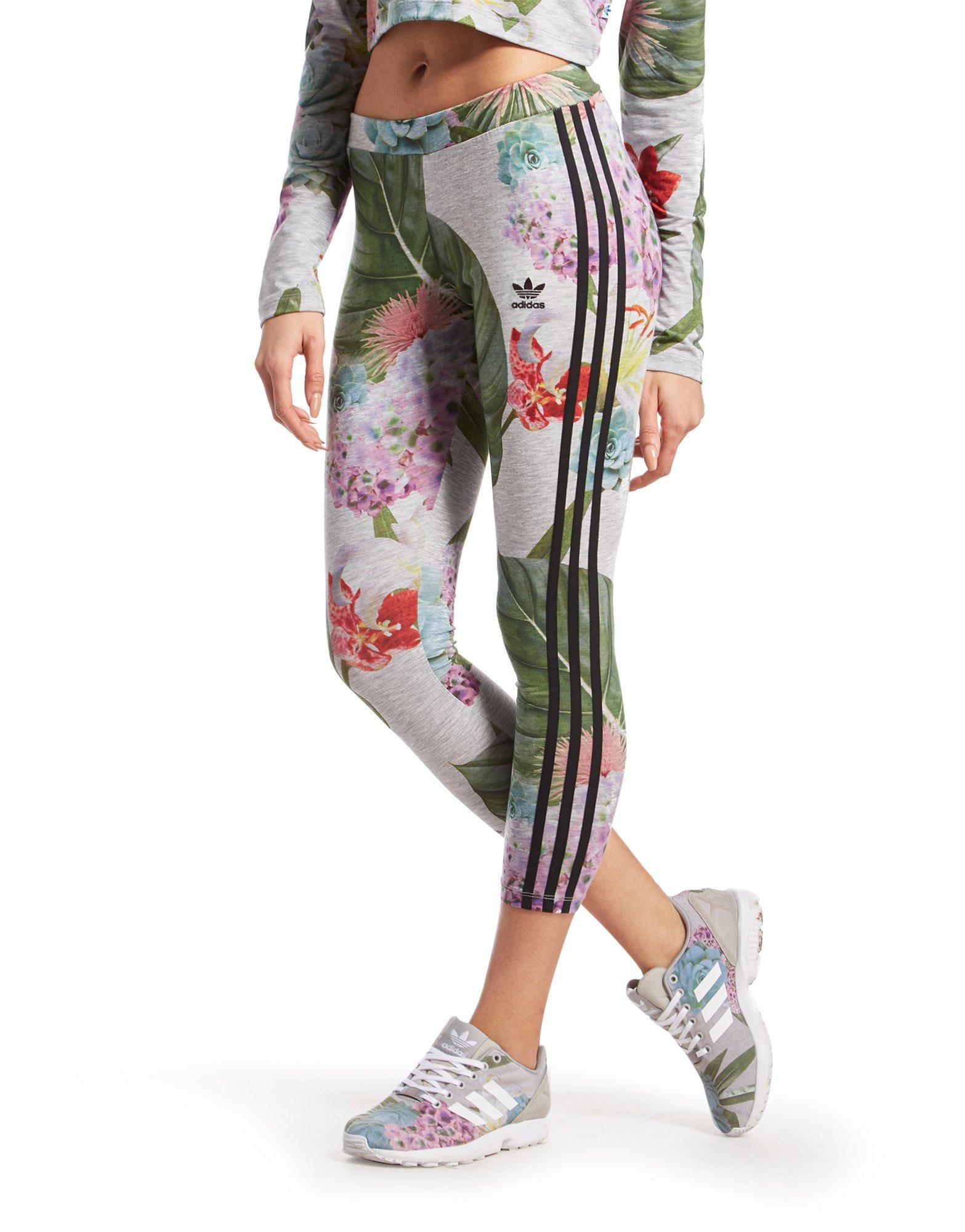adidas leggings floral