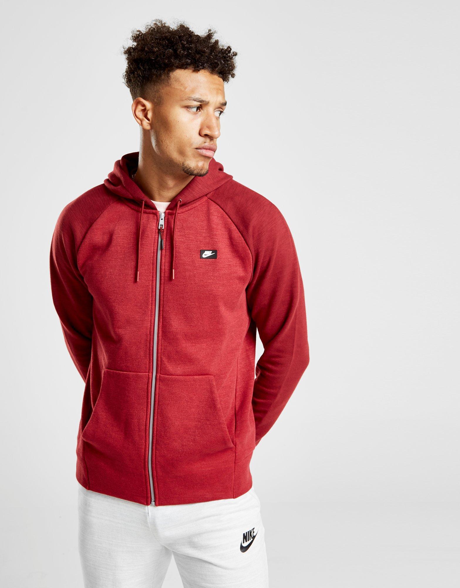 57426059 Nike Optic Full Zip Hoodie in Red for Men - Lyst