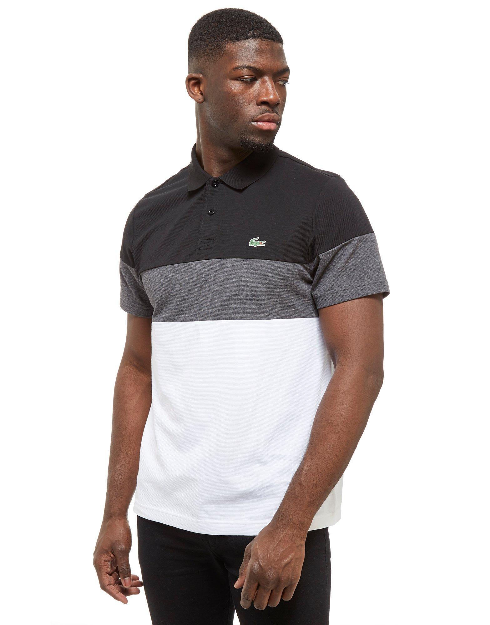 4a25bf9b Lacoste Short Sleeve Color Block Pique Polo Shirt | Azərbaycan ...