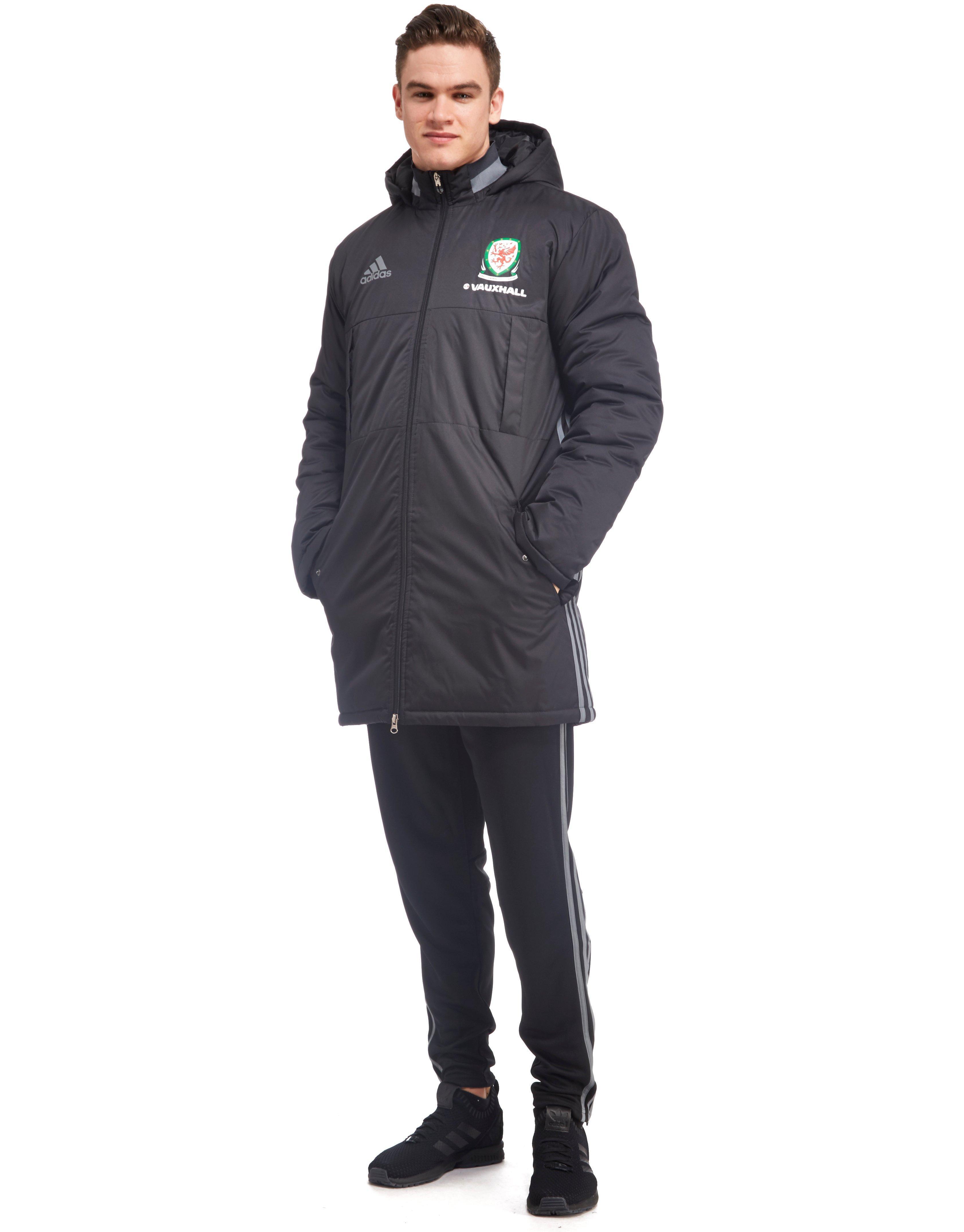 f34dde4c44d6 Lyst - adidas Originals Wales 2016 17 Stadium Jacket in Black for Men
