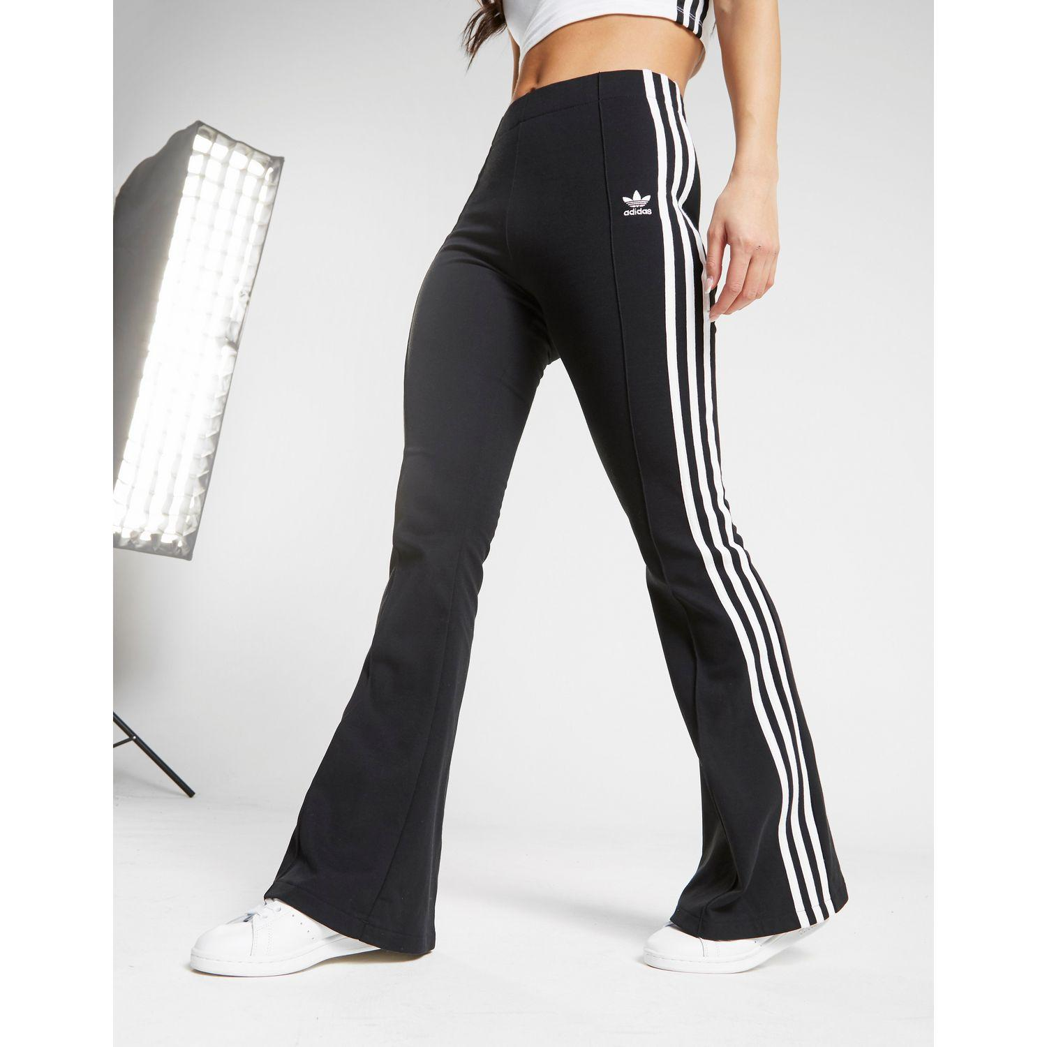 2d560770940 adidas Originals 3-stripes Flared Track Pants in Black - Lyst