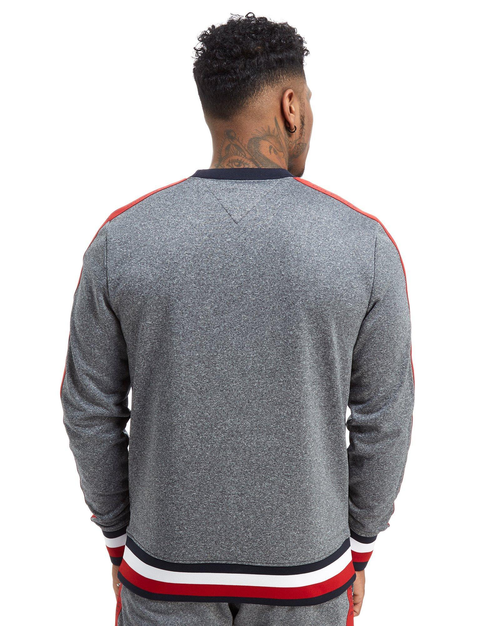 a46bb2eb Tommy Hilfiger Tech Terry Tape Crew Sweatshirt in Gray for Men - Lyst