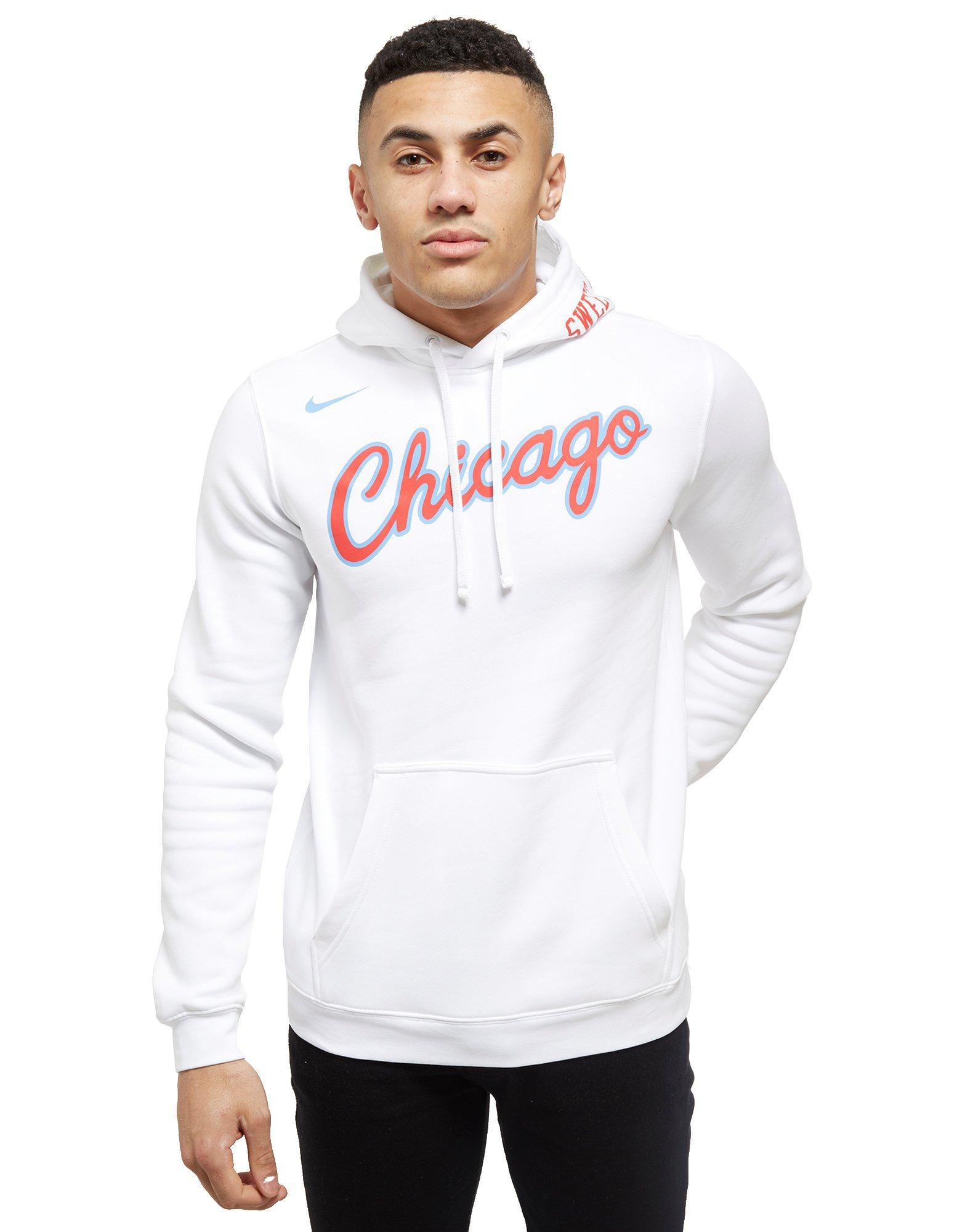 280a02f4 Nike Nba Chicago Bulls City Hoodie in White for Men - Lyst