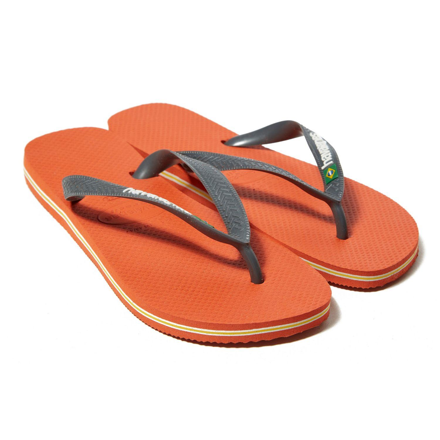 fd9244e5f996ba Havaianas - Orange Brazil Logo Flip Flops for Men - Lyst. View fullscreen