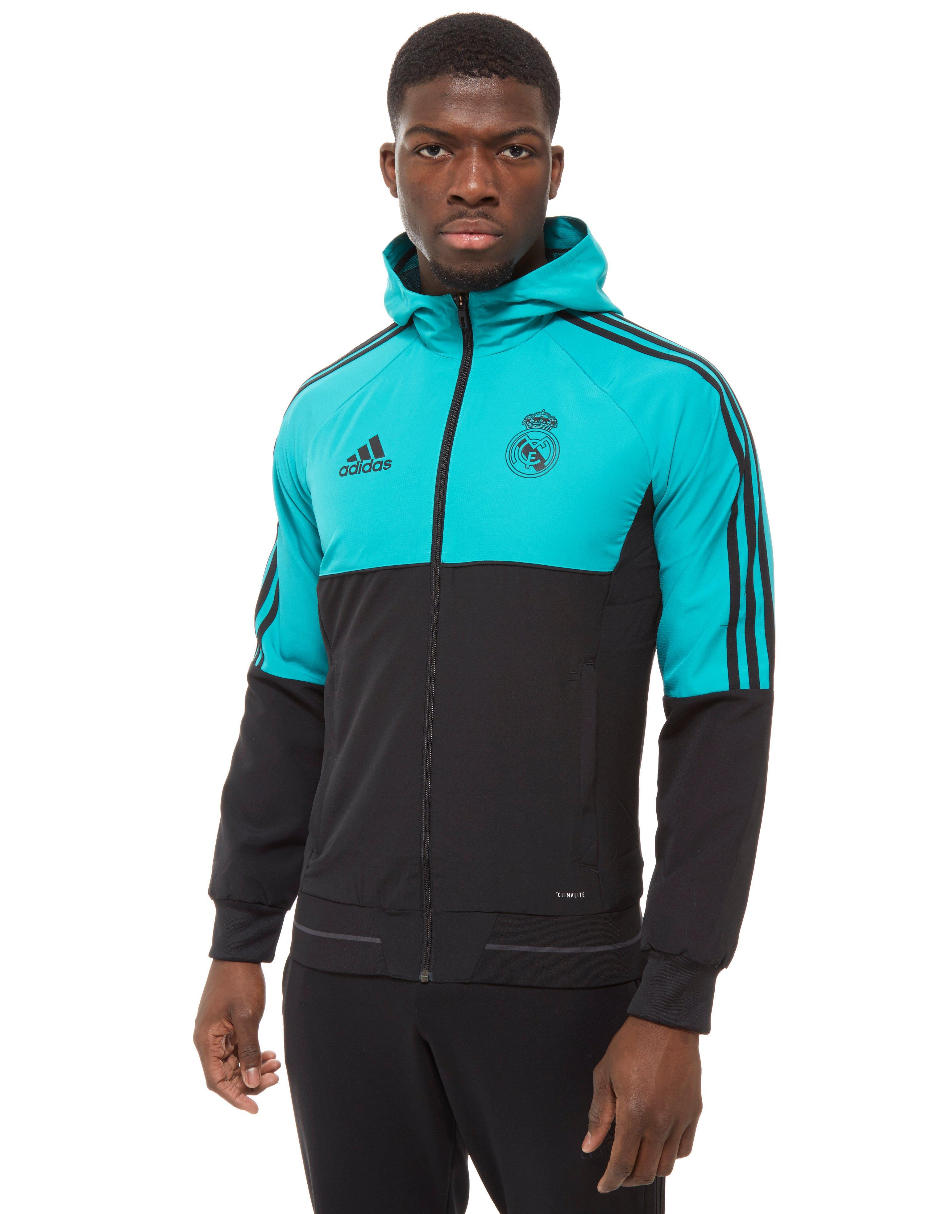 Lyst - adidas Real Madrid Presentation Jacket in Blue for Men 59439806b5