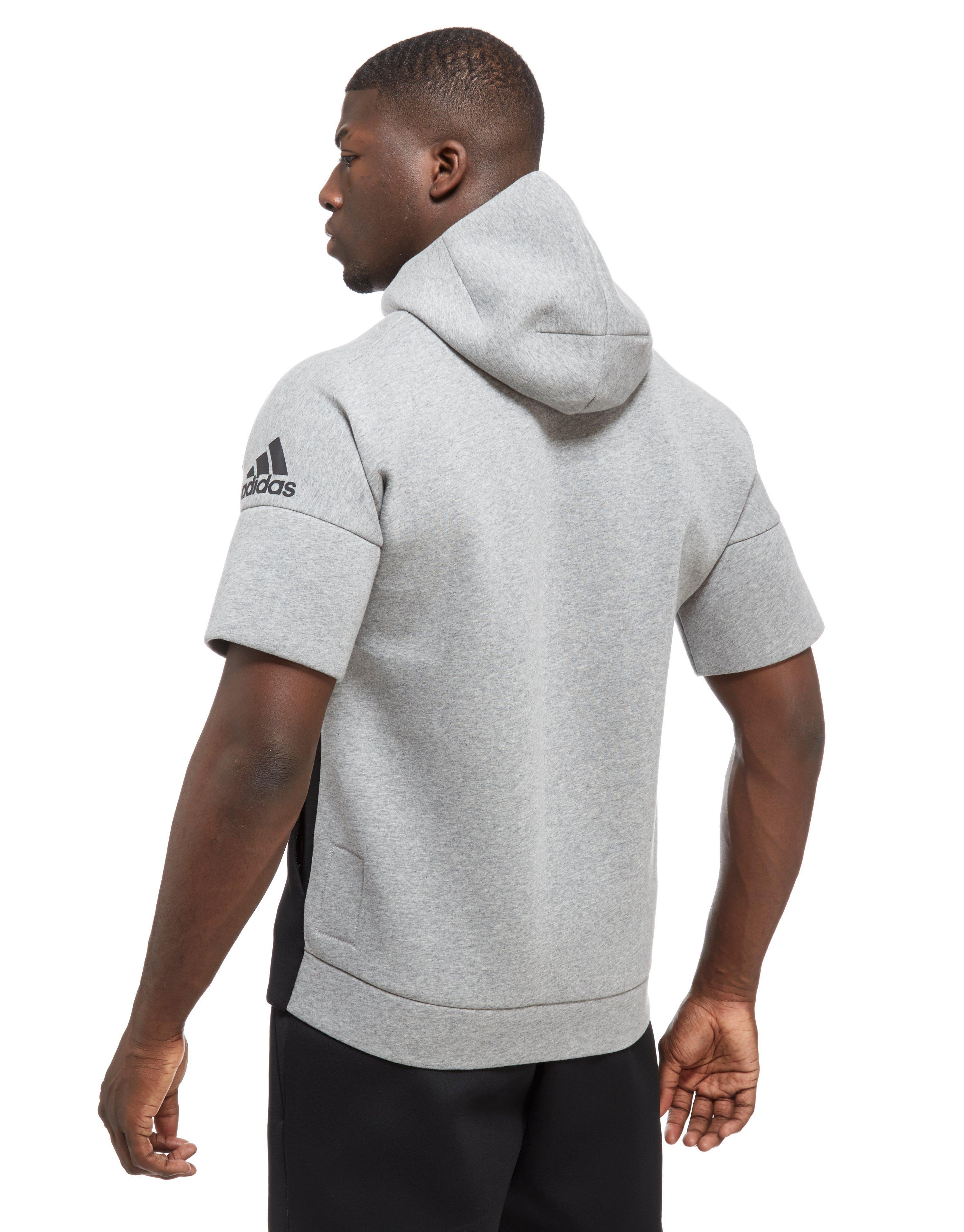 e4431a9ca adidas Z.n.e Short Sleeve Hoodie in Black for Men - Lyst