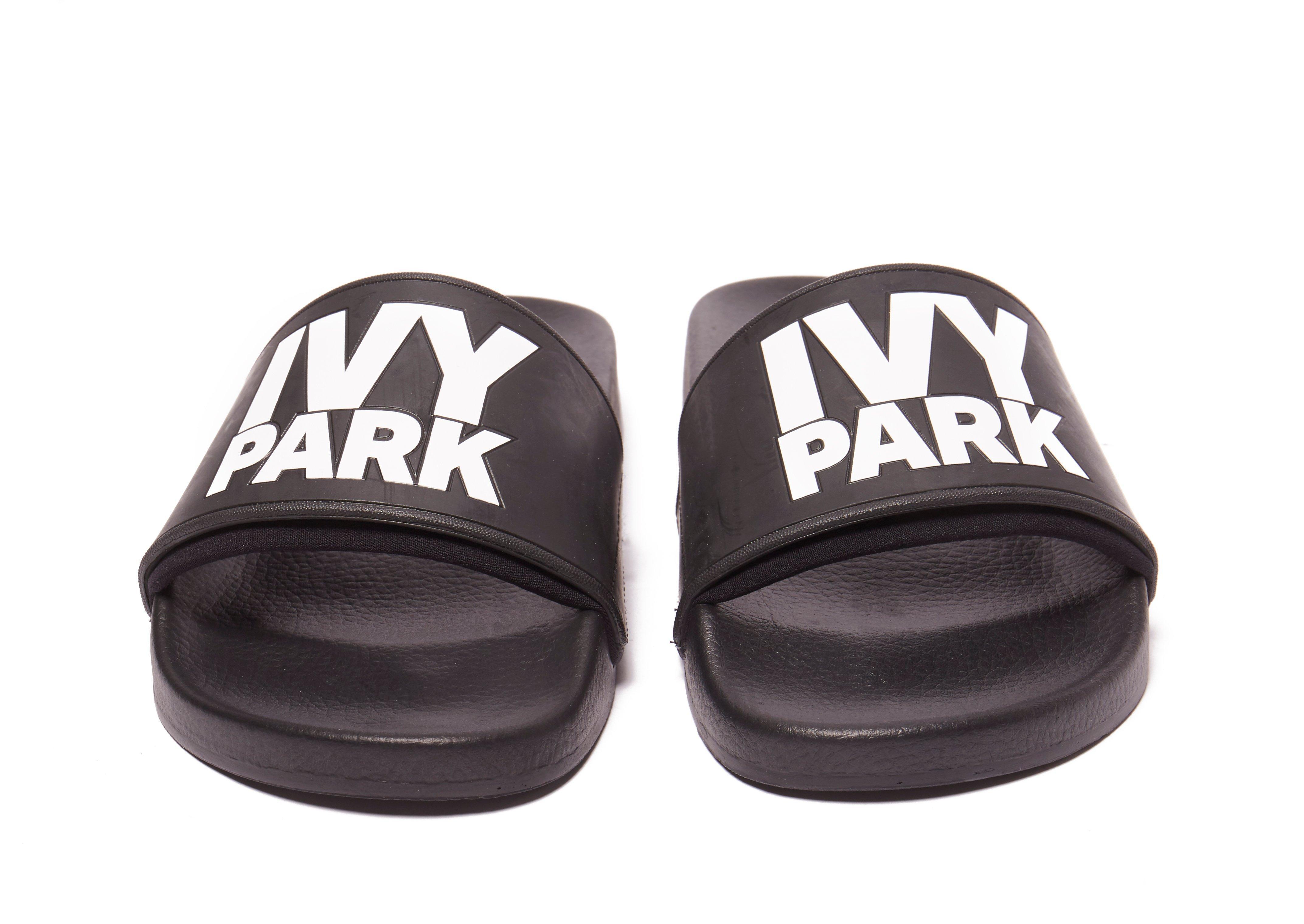 3c529c42015ead Ivy Park Neo Slides in Black - Lyst