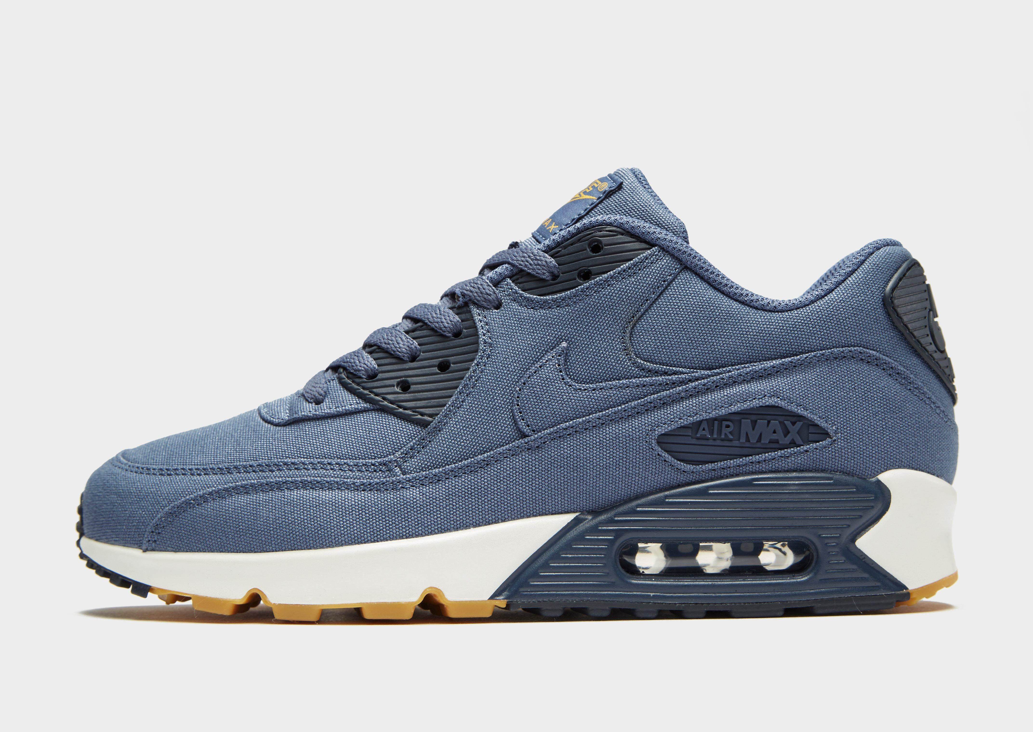 watch 6c342 39a91 ... where can i buy lyst nike air max 90 textile in blue for men 4bead b3e59