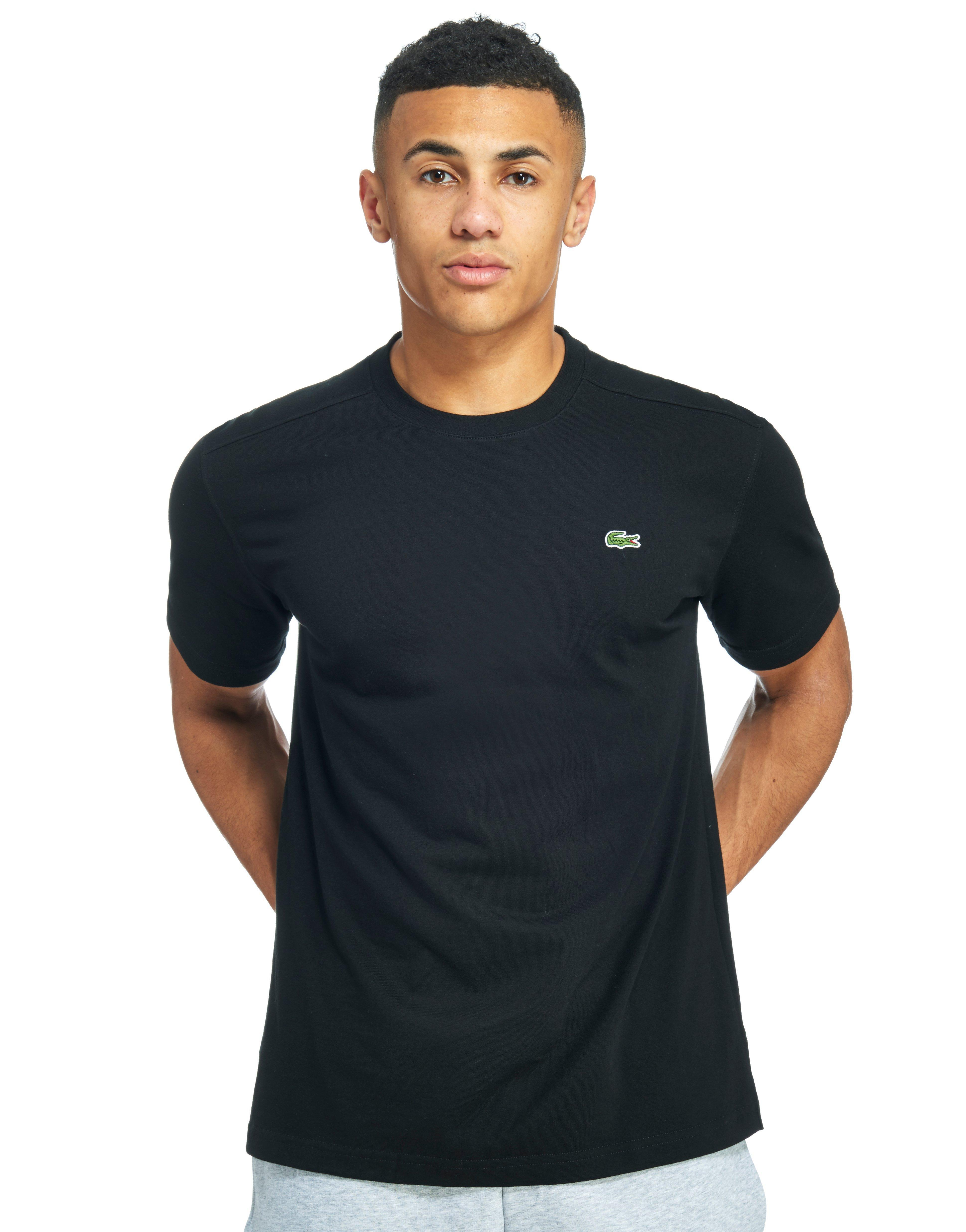 lacoste short sleeve croc t shirt in black for men lyst. Black Bedroom Furniture Sets. Home Design Ideas