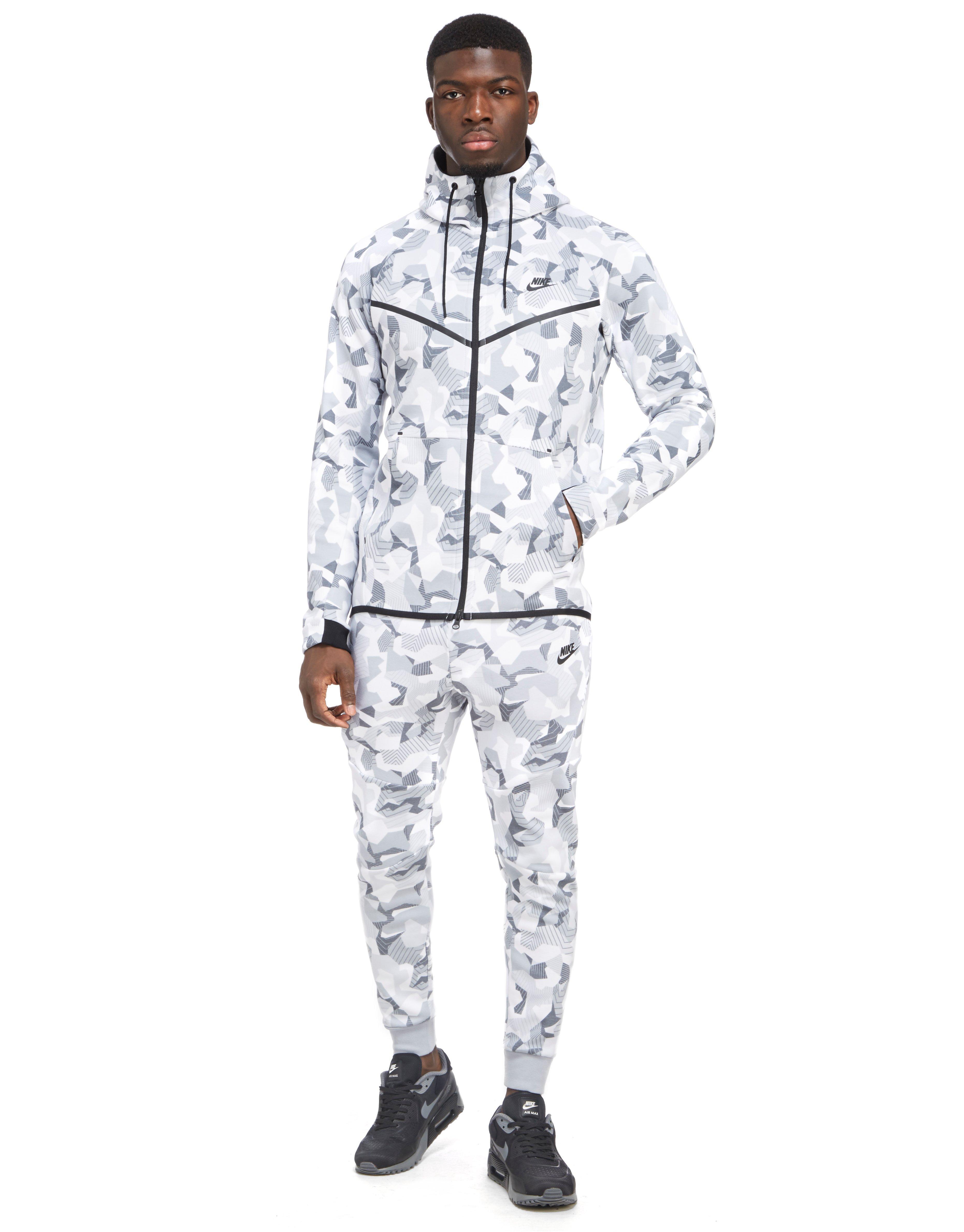 Lyst - Nike Tech Fleece Camouflage Pants in White for Men ac74c3f35d39