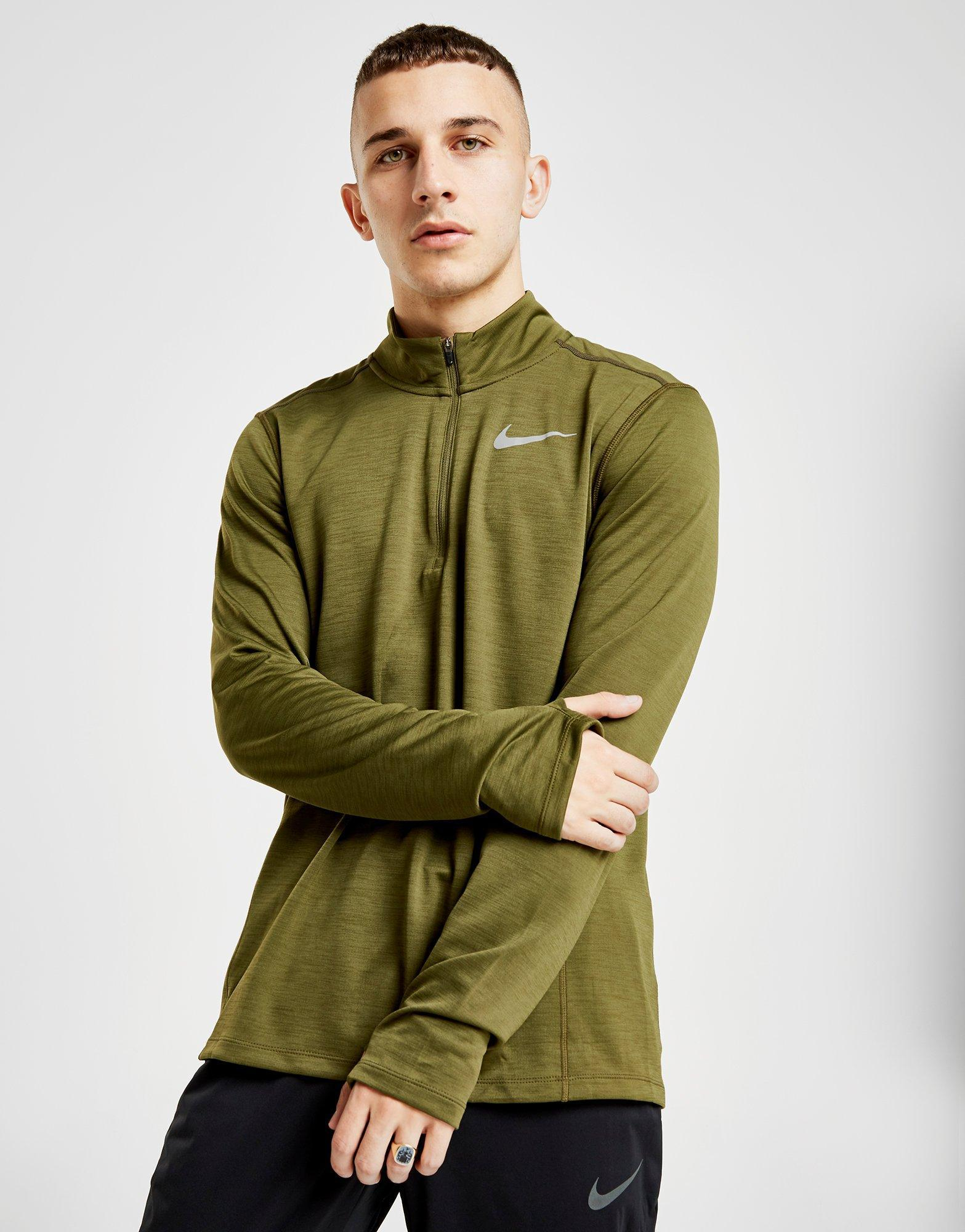 075022ecf053 Lyst - Nike Pacer 1 2 Zip Track Top in Green for Men