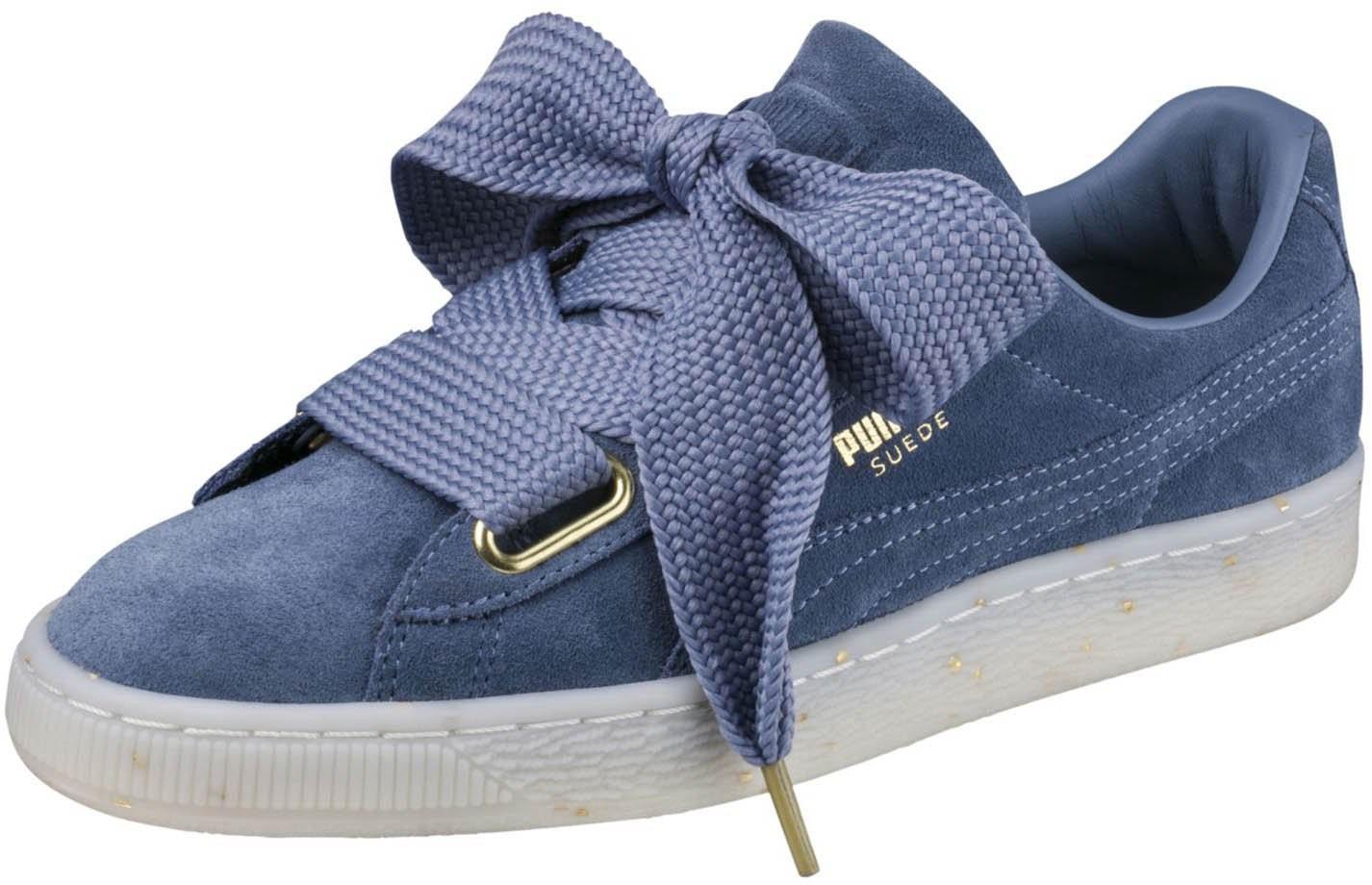 25e54323098de0 Lyst - PUMA 365561-03  Suede Heart Celebrate Infinity Sneaker in Blue