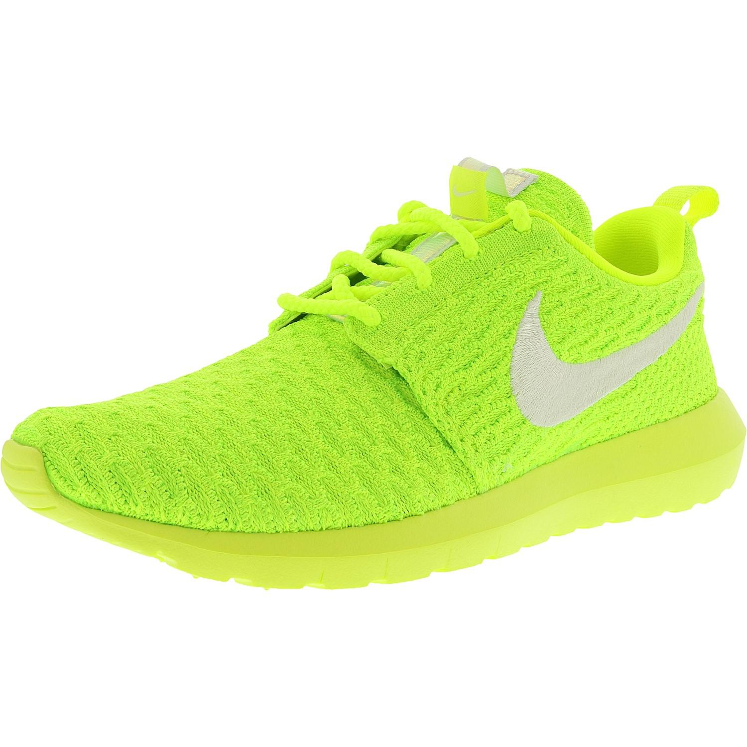 f0226cb89788 Lyst - Nike Roshe Nm Flyknit Volt white-electric Green Ankle-high ...