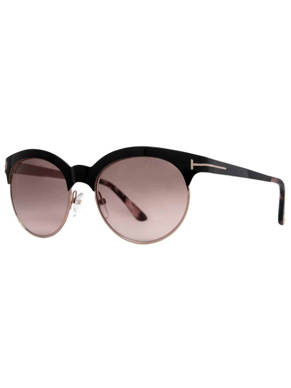 7bb89830018 Lyst - Tom Ford Angela Round Sunglasses in Brown