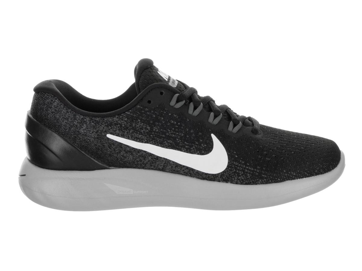 official photos 78f62 f33e8 Nike Lunarglide 9 Black white Dark Grey Running Shoe 10 Women Us in ...