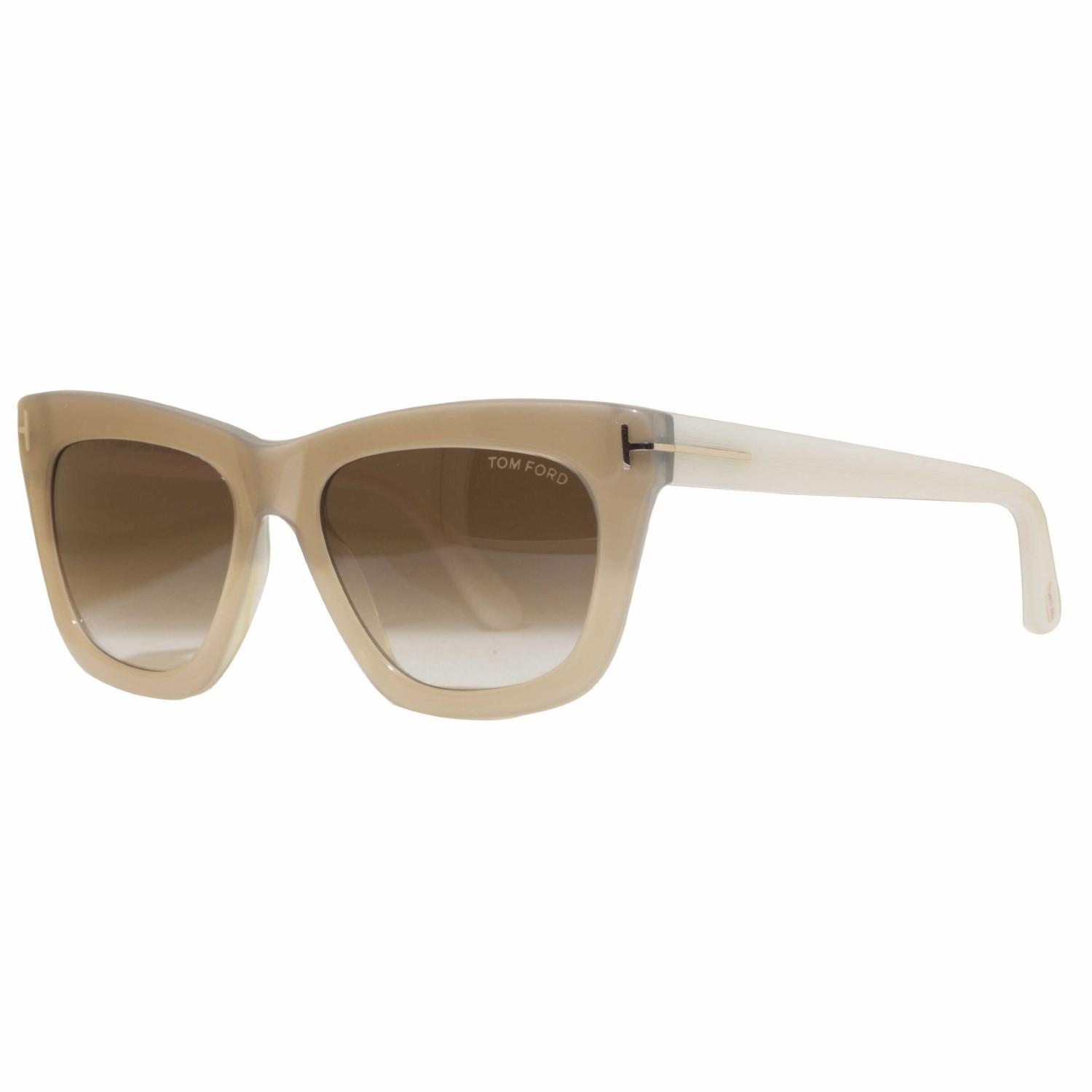 d055bfa8c8c46 Lyst - Tom Ford Celina Tf361 34f Pearl ivory Brown Gradient Square ...