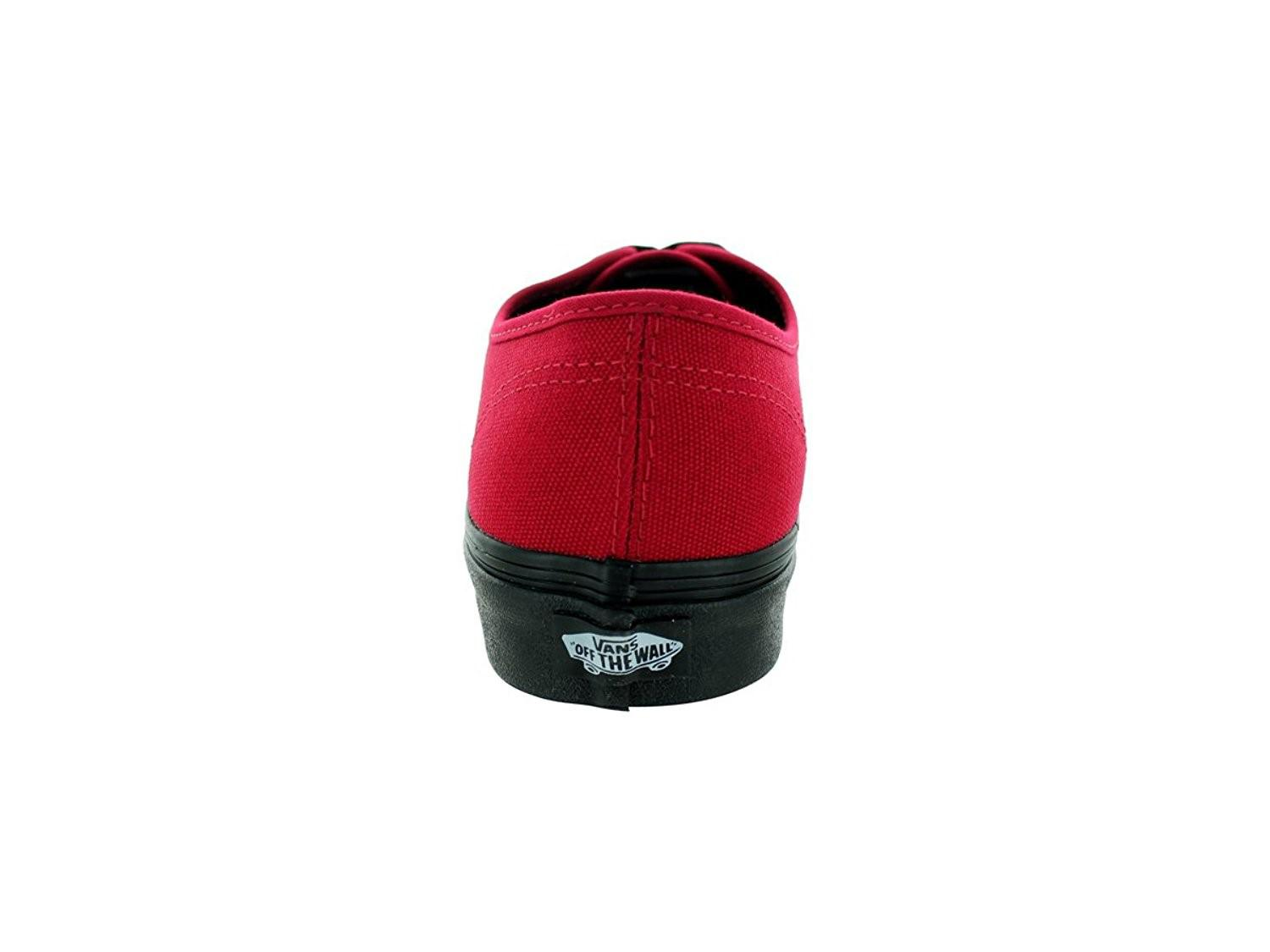 6bef0a6608e Lyst - Vans Unisex Authentic Black Sole Skate Shoes-jester Red-7.5 ...