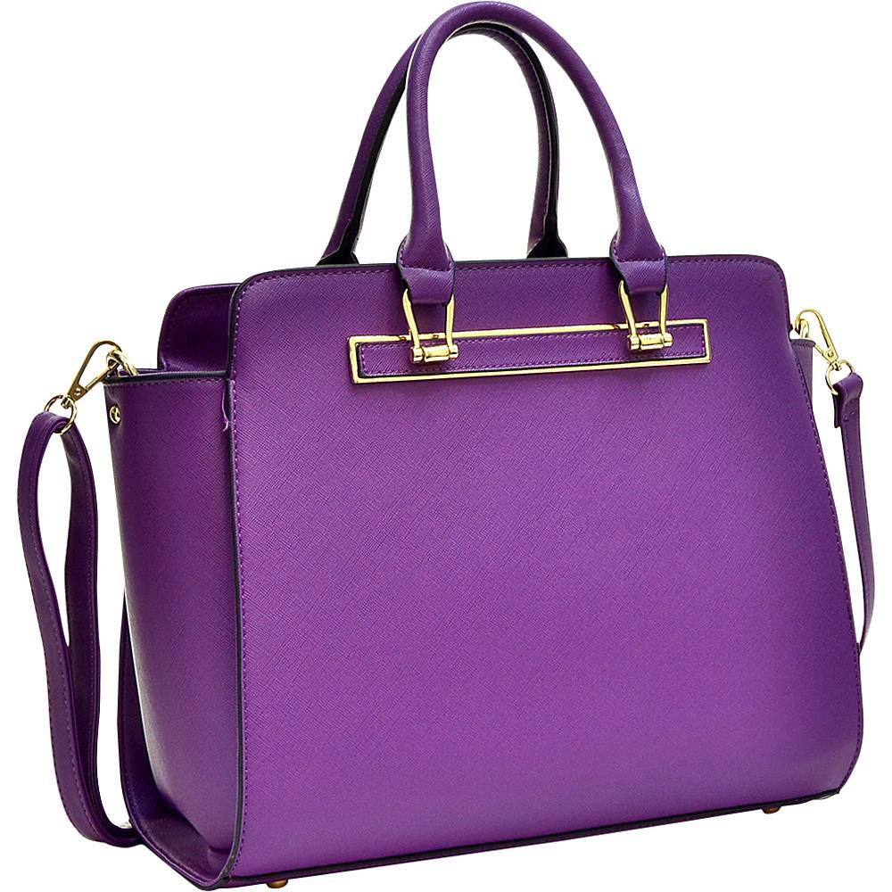052892cd55 Lyst - Calvin Klein Dasein Faux Saffiano Leather Winged Satchel With ...