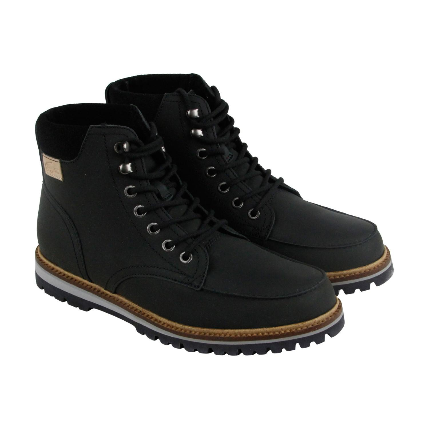 74e831b3a1649a Lyst - Lacoste Montbard Boot Srm Casual Dress Boots in Black for Men