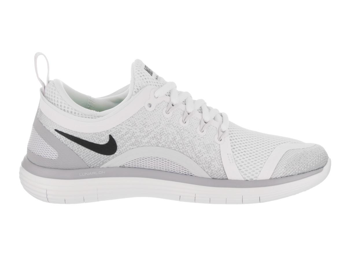 new concept 7960d b51f5 Lyst - Nike Free Rn Distance 2 White black pure Platinum Running ...