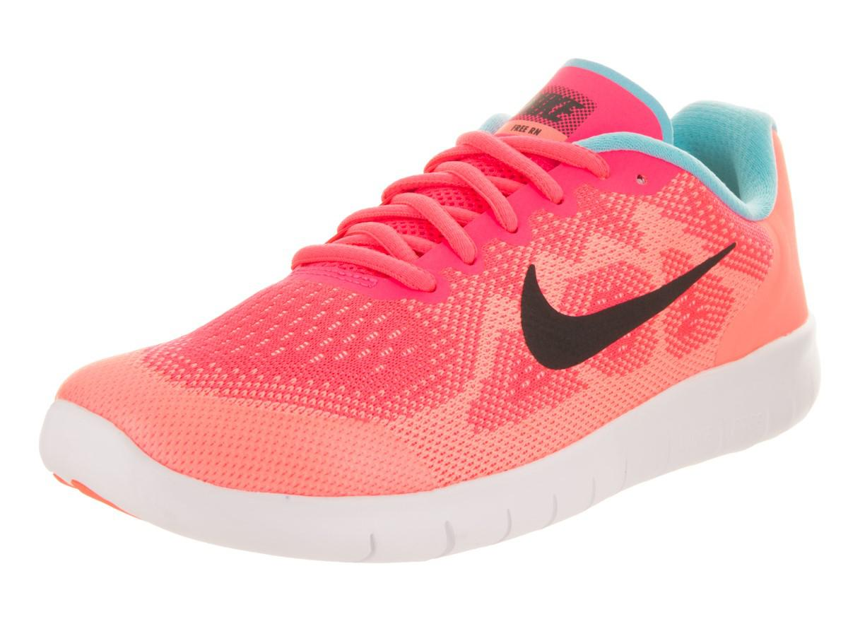 ad3770908db4c ... discount code for nike kids free rn 2017 gs racer pink black lava glow running  shoe
