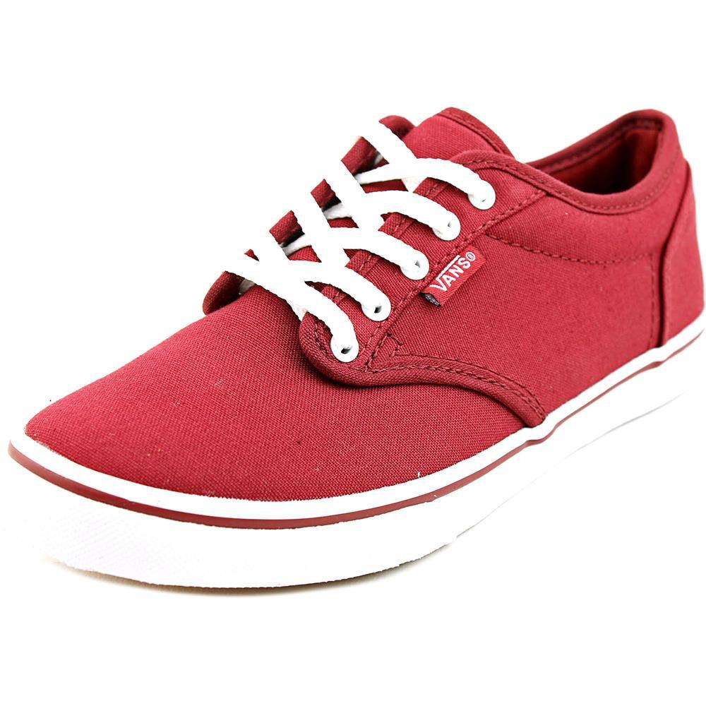 Lyst - Vans Atwood Low Women Us 5 Burgundy Skate Shoe in Red 0dc686479